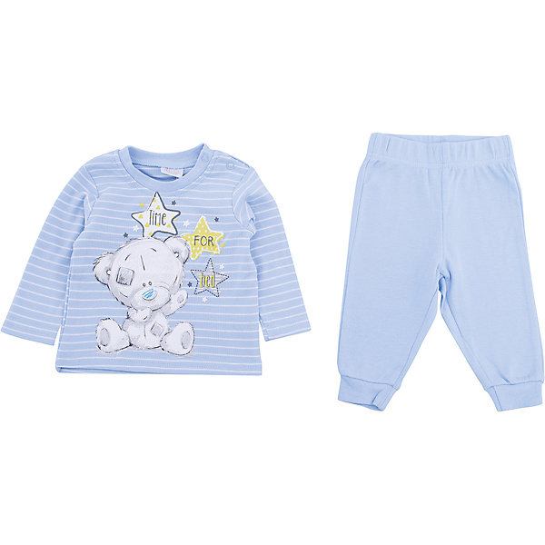 Комплект: футболка с длинным рукавом и брюки PlayToday для мальчикаКомплекты<br>Характеристики товара:<br><br>• цвет: голубой<br>• комплектация: лонгслив и брюки<br>• состав ткани: 95% хлопок, 5% эластан<br>• сезон: демисезон<br>• особенность модели: спортивный стиль<br>• застежка: кнопки<br>• длинные рукава<br>• пояс: резинка<br>• страна бренда: Германия<br>• страна изготовитель: Китай<br><br>Этот детский комплект отличается мягкими швами и продуманным кроем. Трикотажный детский комплект состоит из лонгслива и брюк. Комплект для мальчика подойдет для занятий спортом. Комплект для детей сделан из легких качественных материалов. Детская одежда и обувь от европейского бренда PlayToday - выбор многих родителей. <br><br>Комплект: лонгслив и брюки PlayToday (ПлэйТудэй) для мальчика можно купить в нашем интернет-магазине.<br><br>Ширина мм: 230<br>Глубина мм: 40<br>Высота мм: 220<br>Вес г: 250<br>Цвет: белый<br>Возраст от месяцев: 0<br>Возраст до месяцев: 3<br>Пол: Мужской<br>Возраст: Детский<br>Размер: 56,74,68,62<br>SKU: 7107743