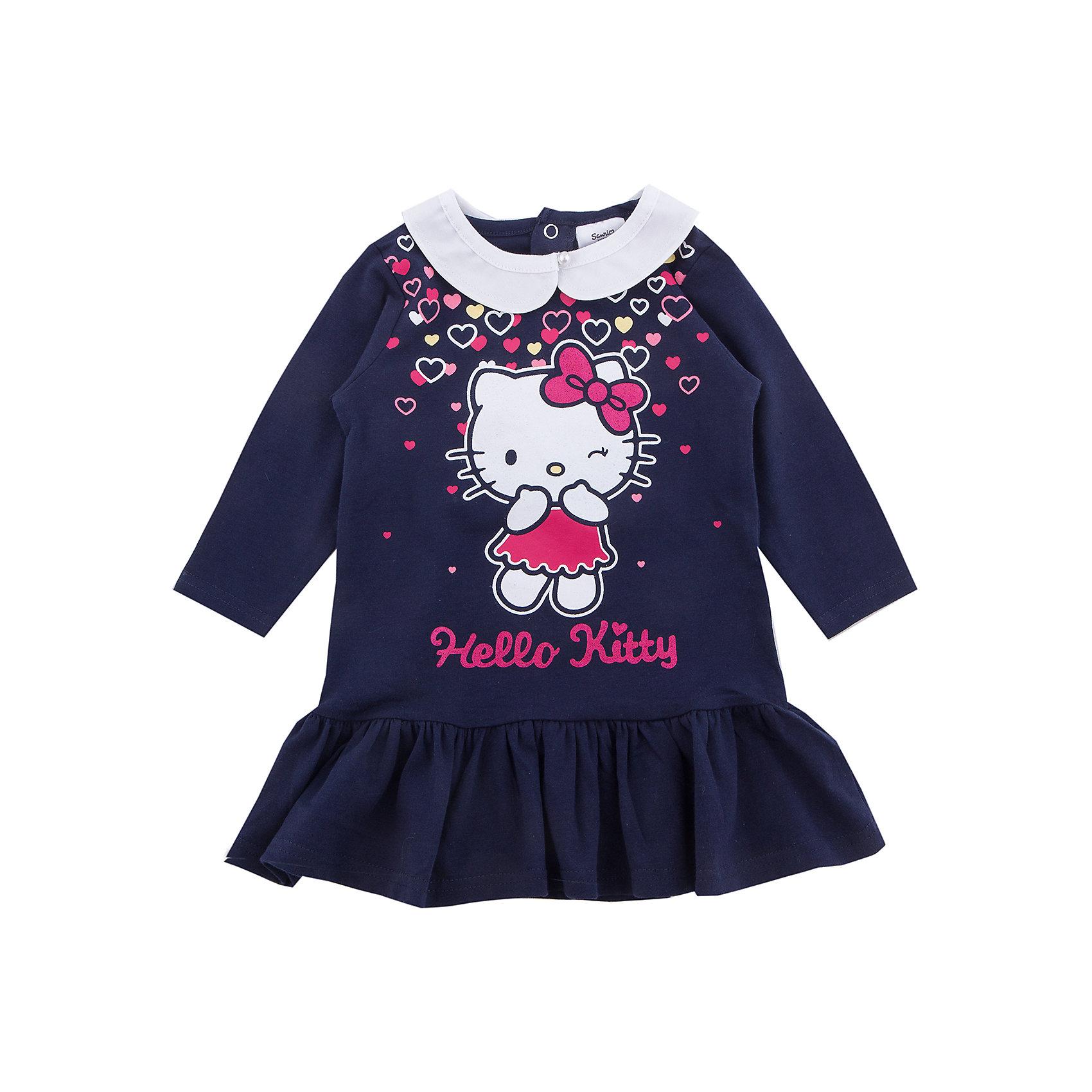 Платье PlayToday для девочкиПлатья и сарафаны<br>Платье PlayToday для девочки<br>Платье с длинным рукавом дополнит повседневный гардероб ребенка. Модель с белоснежным воротником на пуговицах, при необходимости его можно отстегнуть. На спинке расположены удобные застежки - кнопки. Платье декорировано ярким лицензированным принтом и широкой оборкой по низу.<br>Состав:<br>95% хлопок, 5% эластан<br><br>Ширина мм: 236<br>Глубина мм: 16<br>Высота мм: 184<br>Вес г: 177<br>Цвет: белый<br>Возраст от месяцев: 18<br>Возраст до месяцев: 24<br>Пол: Женский<br>Возраст: Детский<br>Размер: 92,74,80,86<br>SKU: 7107791