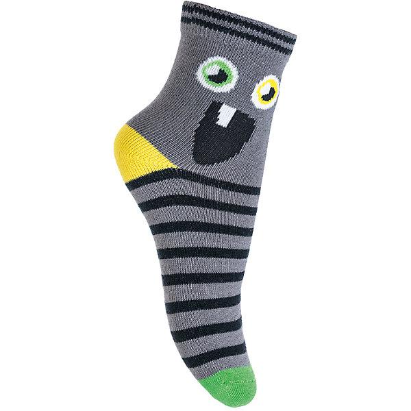 Носки PlayToday для мальчикаНоски<br>Характеристики товара:<br><br>• цвет: серый<br>• состав ткани: 75% хлопок, 22% нейлон, 3% эластан<br>• сезон: круглый год<br>• страна бренда: Германия<br>• страна изготовитель: Китай<br><br>Удобные детские носки хорошо сохраняют форму и яркость цвета. Эти трикотажные носки для мальчика выполнены в красивой расцветке. Носки для детей сделаны из дышащего мягкого материала. Детская одежда и обувь от PlayToday - это стильные вещи по доступным ценам. <br><br>Носки PlayToday (ПлэйТудэй) для мальчика можно купить в нашем интернет-магазине.<br><br>Ширина мм: 87<br>Глубина мм: 10<br>Высота мм: 105<br>Вес г: 115<br>Цвет: серый<br>Возраст от месяцев: 84<br>Возраст до месяцев: 96<br>Пол: Мужской<br>Возраст: Детский<br>Размер: 18,16,14<br>SKU: 7109617