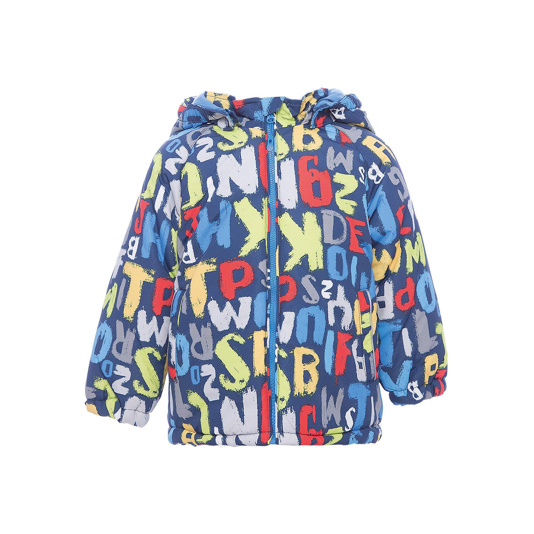Куртка PlayToday для мальчикаВерхняя одежда<br>Куртка PlayToday для мальчика<br>Утепленная куртка из водоотталкивающей ткани - отличное решение для промозглой погоды. Капюшон на кнопках, при необходимости его можно отстегнуть. Модель на молнии, специальный карман для бегунка не позволит застежке травмировать нежную кожу ребенка. Рукава модели на резинках. Низ на регулируемом шнуре - кулиске. Хлопковая подкладка куртки хорошо впитывает лишнюю влагу. Модель дополнена вшивными карманами.<br>Состав:<br>Верх: 100% полиэстер, подкладка: 60% хлопок, 40% полиэстер, наполнитель: 100% полиэстер, 250 г/м2<br><br>Ширина мм: 356<br>Глубина мм: 10<br>Высота мм: 245<br>Вес г: 519<br>Цвет: белый<br>Возраст от месяцев: 18<br>Возраст до месяцев: 24<br>Пол: Мужской<br>Возраст: Детский<br>Размер: 92,74,80,86<br>SKU: 7109670