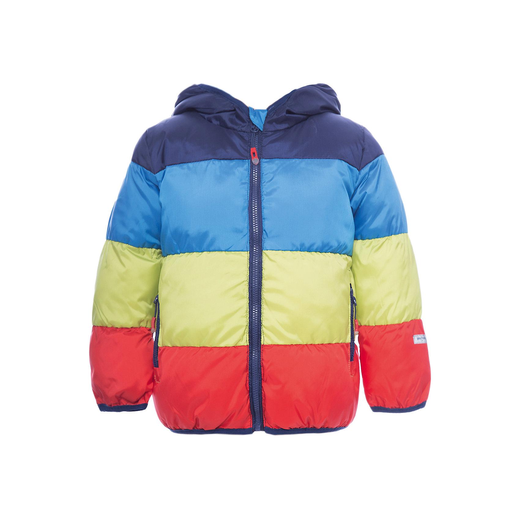 Куртка PlayToday для мальчикаВерхняя одежда<br>Куртка PlayToday для мальчика<br>Яркая утепленная куртка с вшивным капюшоном - отличное решение для промозглой погоды. Ткань с водоотталкивающей пропиткой. Модель на молнии, специальный карман для фиксации бегунка не позволит застежке травмировать нежную детскую кожу. Подкладка из натурального хлопка хорошо впитывает лишнюю влагу. Куртка дополнена вшивными карманами. Контур капюшона, манжеты и низ изделия на мягких трикотажных резинках.<br>Состав:<br>Верх: 100% полиэстер, подкладка: 60% хлопок, 40% полиэстер, наполнитель: 100% полиэстер, 250 г/м2<br><br>Ширина мм: 356<br>Глубина мм: 10<br>Высота мм: 245<br>Вес г: 519<br>Цвет: белый<br>Возраст от месяцев: 12<br>Возраст до месяцев: 18<br>Пол: Мужской<br>Возраст: Детский<br>Размер: 86,92,74,80<br>SKU: 7109680