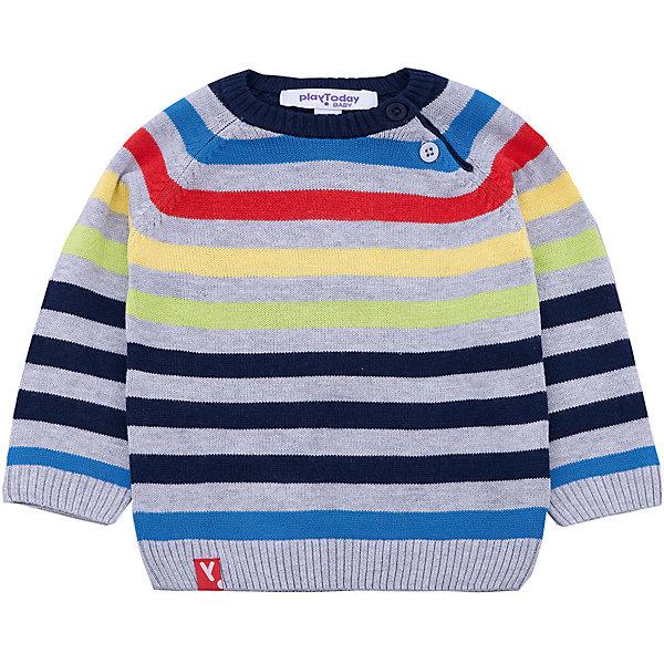 Джемпер PlayToday для мальчикаСвитера и кардиганы<br>Характеристики товара:<br><br>• цвет: серый<br>• состав ткани: 60% вискоза, 40% хлопок<br>• сезон: демисезон<br>• застежка: пуговицы<br>• длинные рукава<br>• страна бренда: Германия<br>• страна изготовитель: Китай<br><br>Детская одежда и обувь от PlayToday - это стильные вещи по доступным ценам. Розовый джемпер для мальчика - удобная и модная вещь. Детский джемпер декорирован яркими полосами. Теплый джемпер для детей сделан из дышащего трикотажа. <br><br>Джемпер PlayToday (ПлэйТудэй) для мальчика можно купить в нашем интернет-магазине.<br><br>Ширина мм: 190<br>Глубина мм: 74<br>Высота мм: 229<br>Вес г: 236<br>Цвет: белый<br>Возраст от месяцев: 6<br>Возраст до месяцев: 9<br>Пол: Мужской<br>Возраст: Детский<br>Размер: 74,92,86,80<br>SKU: 7109695