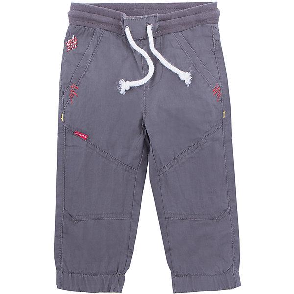 Брюки PlayToday для мальчикаДжинсы и брючки<br>Характеристики товара:<br><br>• цвет: серый<br>• состав ткани: 100% хлопок<br>• подкладка: 100% хлопок<br>• сезон: демисезон<br>• пояс: шнурок<br>• страна бренда: Германия<br>• страна изготовитель: Китай<br><br>Детская одежда и обувь от европейского бренда PlayToday - выбор многих родителей. Эти брюки для мальчика легко надеваются благодаря шнурку в поясе. Детские брюки декорированы яркими строчками из нитей контрастного цвета. Брюки для детей сделан из дышащих качественных материалов. <br><br>Брюки PlayToday (ПлэйТудэй) для мальчика можно купить в нашем интернет-магазине.<br>Ширина мм: 215; Глубина мм: 88; Высота мм: 191; Вес г: 336; Цвет: серый; Возраст от месяцев: 6; Возраст до месяцев: 9; Пол: Мужской; Возраст: Детский; Размер: 74,92,86,80; SKU: 7109710;