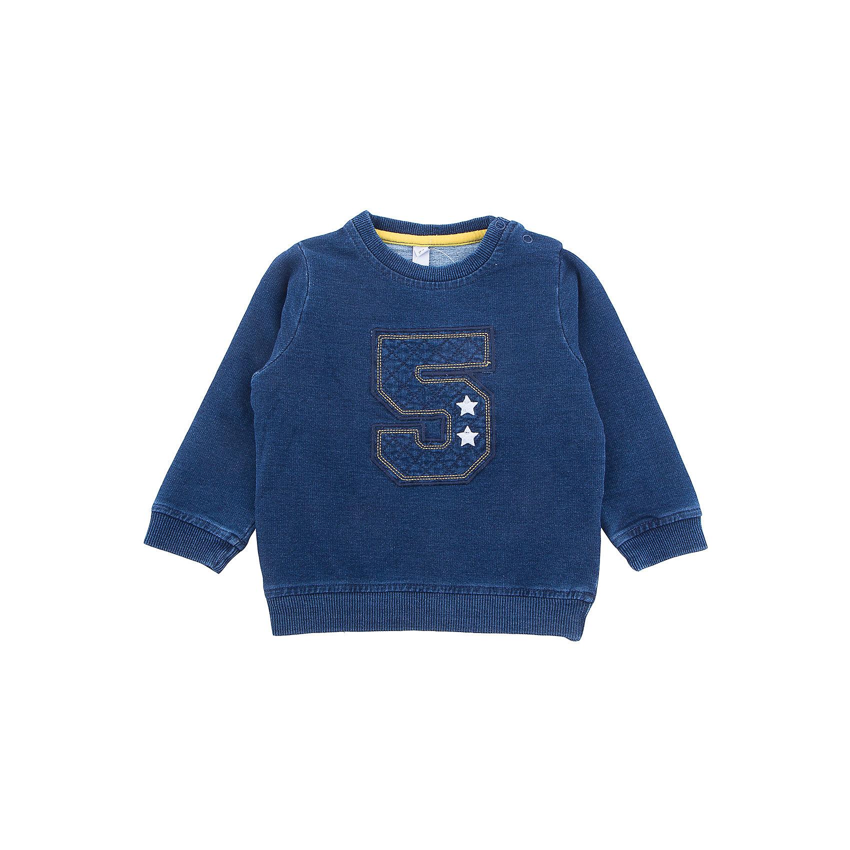 Толстовка PlayToday для мальчикаТолстовки, свитера, кардиганы<br>Толстовка PlayToday для мальчика<br>Практичная толстовка - отличное дополнение к повседневному гардеробу ребенка. Горловина, манжеты и низ изделия на мягких трикотажных резинках. Модель декорирована принтом. Для удобства снимания и одевания на горловине изделия расположены застежки - кнопки.<br>Состав:<br>80% хлопок, 20% полиэстер<br><br>Ширина мм: 190<br>Глубина мм: 74<br>Высота мм: 229<br>Вес г: 236<br>Цвет: синий<br>Возраст от месяцев: 18<br>Возраст до месяцев: 24<br>Пол: Мужской<br>Возраст: Детский<br>Размер: 92,86,74,80<br>SKU: 7109745