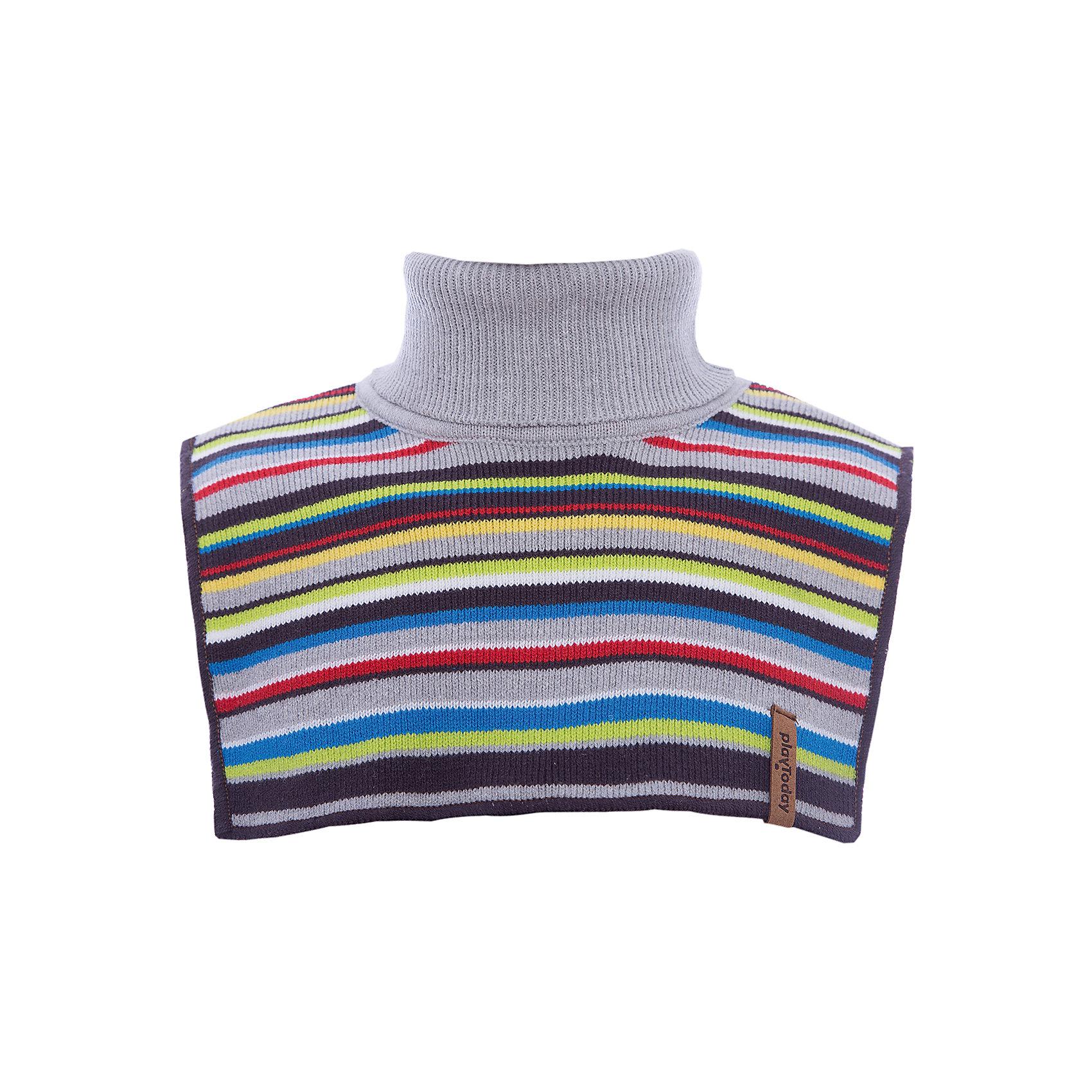 Манишка PlayToday для мальчикаШарфы, платки<br>Манишка PlayToday для мальчика<br>Воротник - манишка - отличная альтернатива шарфу. Модель хорошо закрывает горло, спинку и грудь ребенка. За счет высокого содержания натурального хлопка, материал воротника не раздражает нежную детскую кожу.  Модель выполнена в технике yarn dyed, в процессе производства используются разного цвета нити. При рекомендуемом уходе изделие не линяет и надолго остается в первоначальном виде.<br>Состав:<br>60% хлопок, 40% акрил<br><br>Ширина мм: 88<br>Глубина мм: 155<br>Высота мм: 26<br>Вес г: 106<br>Цвет: белый<br>Возраст от месяцев: 6<br>Возраст до месяцев: 9<br>Пол: Мужской<br>Возраст: Детский<br>Размер: 46,48<br>SKU: 7109830