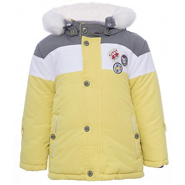Куртка PlayToday для мальчикаВерхняя одежда<br>Характеристики товара:<br><br>• цвет: желтый<br>• состав ткани: 100% полиэстер<br>• подкладка: 80% хлопок, 20% полиэстер<br>• утеплитель: 100% полиэстер<br>• сезон: зима<br>• температурный режим: от -20 до +5<br>• плотность утеплителя: 300 г/м2<br>• особенности модели: с капюшоном<br>• застежка: молния<br>• капюшон: с мехом, съемный<br>• длинные рукава<br>• страна бренда: Германия<br>• страна изготовитель: Китай<br><br>Детская одежда и обувь от PlayToday - это стильные вещи по доступным ценам. Эта детская куртка - из ткани с водоотталкивающей пропиткой. Утепленная куртка для мальчика выполнена в красивой яркой расцветке. Куртка для детей дополнена съемный капюшоном. <br><br>Куртку PlayToday (ПлэйТудэй) для мальчика можно купить в нашем интернет-магазине.<br>Ширина мм: 356; Глубина мм: 10; Высота мм: 245; Вес г: 519; Цвет: желтый; Возраст от месяцев: 6; Возраст до месяцев: 9; Пол: Мужской; Возраст: Детский; Размер: 86,74,92,80; SKU: 7109859;