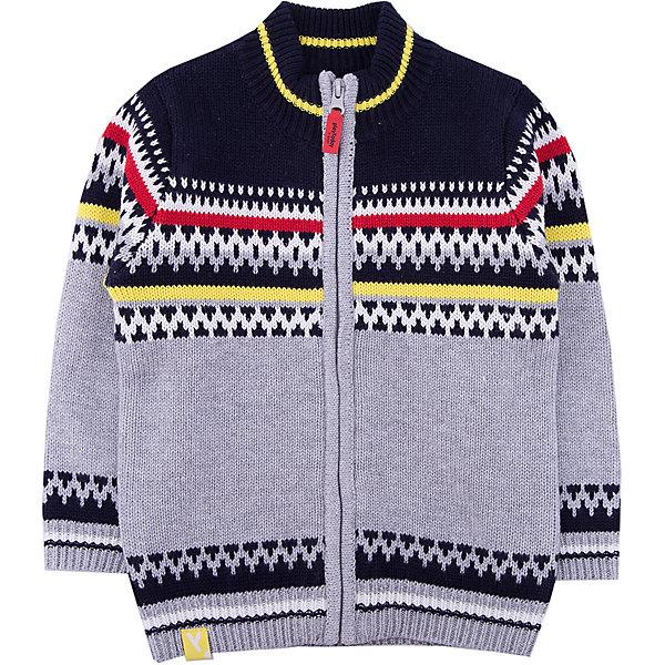 Кардиган PlayToday для мальчикаТолстовки, свитера, кардиганы<br>Характеристики товара:<br><br>• цвет: серый<br>• состав ткани: 60% хлопок, 40% акрил<br>• сезон: демисезон<br>• застежка: молния<br>• длинные рукава<br>• страна бренда: Германия<br>• страна изготовитель: Китай<br><br>Кардиган для мальчика - удобная и модная вещь. Детский кардиган декорирован оригинальной аппликацией. Теплый кардиган для детей сделан из мягкого дышащего трикотажа. Одежда и аксессуары для детей от PlayToday - это качественные и красивые вещи. <br><br>Кардиган PlayToday (ПлэйТудэй) для мальчика можно купить в нашем интернет-магазине.<br>Ширина мм: 190; Глубина мм: 74; Высота мм: 229; Вес г: 236; Цвет: белый; Возраст от месяцев: 12; Возраст до месяцев: 18; Пол: Мужской; Возраст: Детский; Размер: 86,74,80,92; SKU: 7109874;