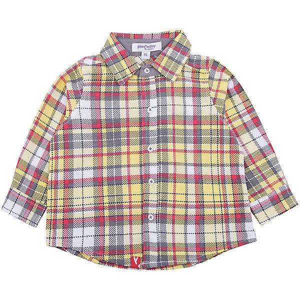 Рубашка PlayToday для мальчикаТолстовки, свитера, кардиганы<br>Характеристики товара:<br><br>• цвет: серый<br>• состав ткани: 65% хлопок, 35% полиэстер<br>• сезон: демисезон<br>• застежка: пуговицы<br>• длинные рукава<br>• страна бренда: Германия<br>• страна изготовитель: Китай<br><br>Клетчатая детская рубашка мягкая и приятная на ощупь. Рубашка для мальчика выполнена в красивой расцветке. Рубашка для детей - с отложным воротником. Детская одежда и обувь от PlayToday - это стильные вещи по доступным ценам. <br><br>Рубашку PlayToday (ПлэйТудэй) для мальчика можно купить в нашем интернет-магазине.<br>Ширина мм: 174; Глубина мм: 10; Высота мм: 169; Вес г: 157; Цвет: белый; Возраст от месяцев: 18; Возраст до месяцев: 24; Пол: Мужской; Возраст: Детский; Размер: 92,74,80,86; SKU: 7109894;