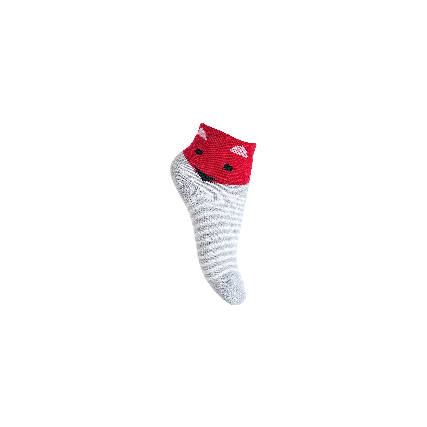 Носки PlayToday для мальчикаНосочки и колготки<br>Носки PlayToday для мальчика<br>Махровые носки очень мягкие, из  натуральных материалов, приятные к телу и не сковывают движений. Хорошо пропускают воздух, тем самым позволяя коже дышать. Даже частые стирки, при условии соблюдений рекомендаций по уходу, не изменят ни форму, ни цвет изделия. Модель выполнена в технике yarn dyed - в процессе производства используются разного цвета нити. При рекомендуемом уходе, изделие не линяет и надолго остается в первоначальном виде. Мягкая резинка не сдавливает нежную детскую кожу.<br>Состав:<br>80% хлопок, 15% нейлон, 5% эластан<br><br>Ширина мм: 87<br>Глубина мм: 10<br>Высота мм: 105<br>Вес г: 115<br>Цвет: серый<br>Возраст от месяцев: 12<br>Возраст до месяцев: 18<br>Пол: Мужской<br>Возраст: Детский<br>Размер: 11<br>SKU: 7110087