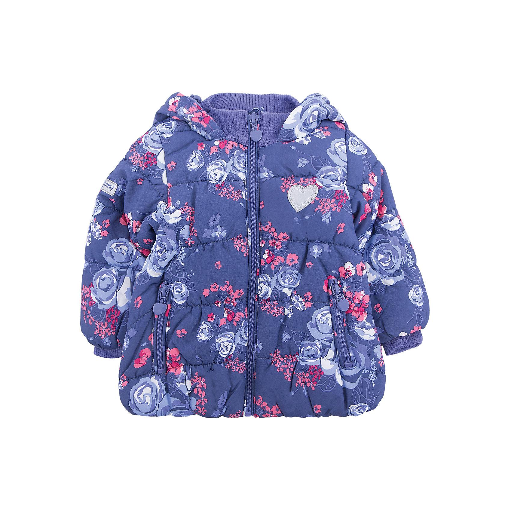 Куртка PlayToday для девочкиВерхняя одежда<br>Куртка PlayToday для девочки<br>Утепленная куртка из ткани с ярким цветочным принтом и водоооталкивающей пропиткой - отличное решение для промозглой погоды. Вшивной капюшон дополнен регулируемым шнуром - кулиской. Трикотажные резинки на горловине и манжетах для дополнительного сохранения тепла. Хлопковая подкладка хорошо впитывает лишнюю влагу. Куртка дополнена карманами на молнии. Светоотражатели обеспечат видимость ребенка в темное время суток.<br>Состав:<br>Верх: 100% полиэстер, подкладка: 60% хлопок, 40% полиэстер, наполнитель: 100% полиэстер, 250 г/м2<br><br>Ширина мм: 356<br>Глубина мм: 10<br>Высота мм: 245<br>Вес г: 519<br>Цвет: белый<br>Возраст от месяцев: 18<br>Возраст до месяцев: 24<br>Пол: Женский<br>Возраст: Детский<br>Размер: 92,74,80,86<br>SKU: 7110096