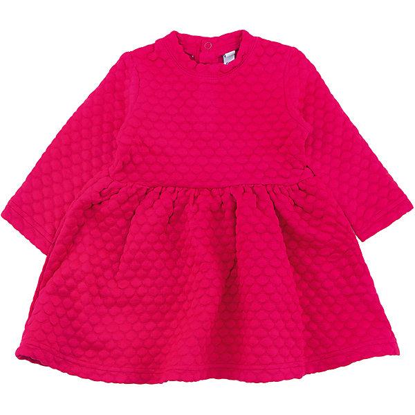 Платье PlayToday для девочкиПлатья<br>Характеристики товара:<br><br>• цвет: розовый<br>• состав ткани: 63% полиэстер, 35% вискоза, 2% эластан<br>• сезон: демисезон<br>• застежка: кнопки<br>• длинные рукава<br>• страна бренда: Германия<br>• страна изготовитель: Китай<br><br>Стильное платье для детей сделано из дышащего материала. Трикотажное платье для девочки - удобная и модная вещь. Детское платье - из рельефного трикотажа с округлым воротником. Детская одежда и обувь от PlayToday - это стильные вещи по доступным ценам. <br><br>Платье PlayToday (ПлэйТудэй) для девочки можно купить в нашем интернет-магазине.<br><br>Ширина мм: 236<br>Глубина мм: 16<br>Высота мм: 184<br>Вес г: 177<br>Цвет: розовый<br>Возраст от месяцев: 6<br>Возраст до месяцев: 9<br>Пол: Женский<br>Возраст: Детский<br>Размер: 74,92,86,80<br>SKU: 7110161