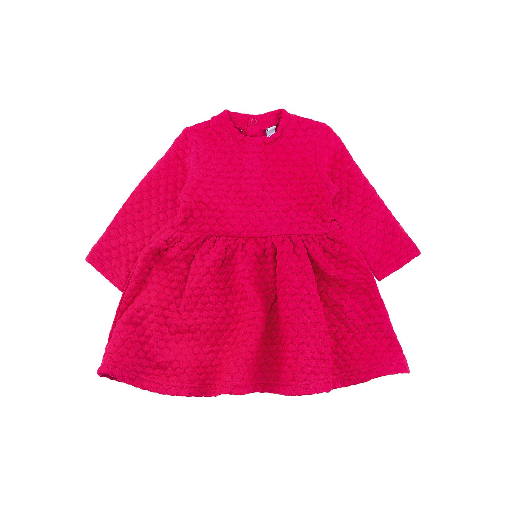Платье PlayToday для девочкиПлатья<br>Платье PlayToday для девочки<br>Яркое платье отрезное по талии из рельефного трикотажа с округлым воротником разнообразит повседневный гардероб ребенка. На спинке расположены удобные застежки - кнопки. Свободный крой не сковывает движений. Приятная на ощупь ткань не вызывает раздражений.<br>Состав:<br>63% полиэстер, 35% вискоза, 2% эластан<br><br>Ширина мм: 236<br>Глубина мм: 16<br>Высота мм: 184<br>Вес г: 177<br>Цвет: розовый<br>Возраст от месяцев: 18<br>Возраст до месяцев: 24<br>Пол: Женский<br>Возраст: Детский<br>Размер: 86,92,74,80<br>SKU: 7110161