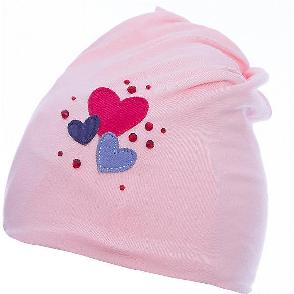 Шапка PlayToday для девочкиШапочки<br>Характеристики товара:<br><br>• цвет: розовый<br>• состав ткани: 95% хлопок, 5% эластан<br>• сезон: демисезон<br>• стразы<br>• страна бренда: Германия<br>• страна изготовитель: Китай<br><br>Эта шапка для детей - без завязок, плотно прилегает к голове. Детская шапка комфортно сидит на голове благодаря мягкому материалу. Шапка для девочки выполнена в красивой расцветке. Одежда и аксессуары для детей от PlayToday - это качественные и красивые вещи. <br><br>Шапку PlayToday (ПлэйТудэй) для девочки можно купить в нашем интернет-магазине.<br><br>Ширина мм: 89<br>Глубина мм: 117<br>Высота мм: 44<br>Вес г: 155<br>Цвет: белый<br>Возраст от месяцев: 6<br>Возраст до месяцев: 9<br>Пол: Женский<br>Возраст: Детский<br>Размер: 46,48<br>SKU: 7110235