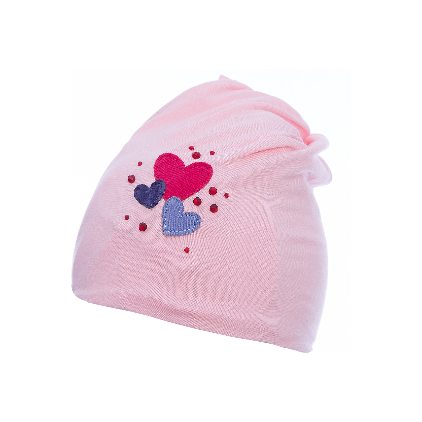 Шапка PlayToday для девочкиШапочки<br>Шапка PlayToday для девочки<br>Шапка из трикотажа - отличное решение для прогулок в прохладную погоду. Модель без завязок, плотно прилегает к голове, комфортна при носке. Декорирована аккуратной аппликацией и россыпью из страз.<br>Состав:<br>92% хлопок, 8% эластан<br><br>Ширина мм: 89<br>Глубина мм: 117<br>Высота мм: 44<br>Вес г: 155<br>Цвет: белый<br>Возраст от месяцев: 6<br>Возраст до месяцев: 9<br>Пол: Женский<br>Возраст: Детский<br>Размер: 46,48<br>SKU: 7110235