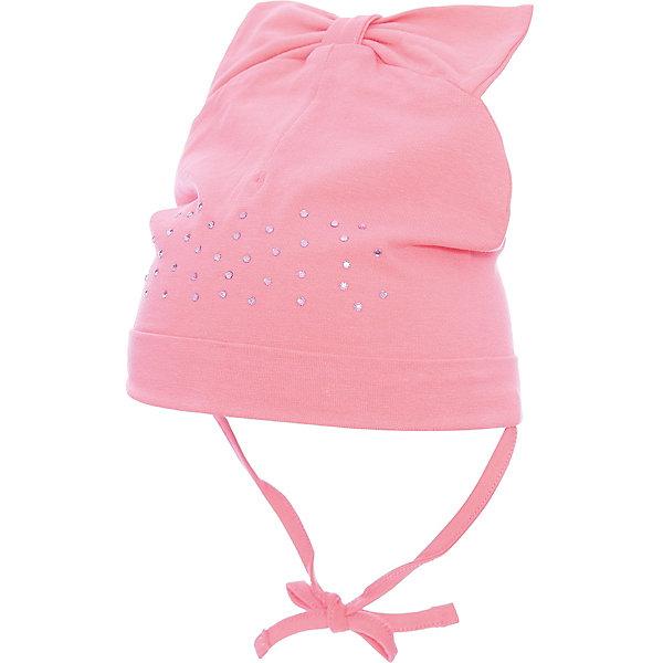 Шапка PlayToday для девочкиШапочки<br>Характеристики товара:<br><br>• цвет: розовый<br>• состав ткани: 92% хлопок, 8% эластан<br>• сезон: демисезон<br>• застежка: завязки<br>• стразы<br>• страна бренда: Германия<br>• страна изготовитель: Китай<br><br>Эффектная шапка для детей украшена стразами. Детская шапка комфортно сидит на голове благодаря мягкому материалу. Шапка для девочки выполнена в красивой расцветке. Одежда и аксессуары для детей от PlayToday - это качественные и красивые вещи. <br><br>Шапку PlayToday (ПлэйТудэй) для девочки можно купить в нашем интернет-магазине.<br>Ширина мм: 89; Глубина мм: 117; Высота мм: 44; Вес г: 155; Цвет: розовый; Возраст от месяцев: 6; Возраст до месяцев: 9; Пол: Женский; Возраст: Детский; Размер: 46,48; SKU: 7110238;
