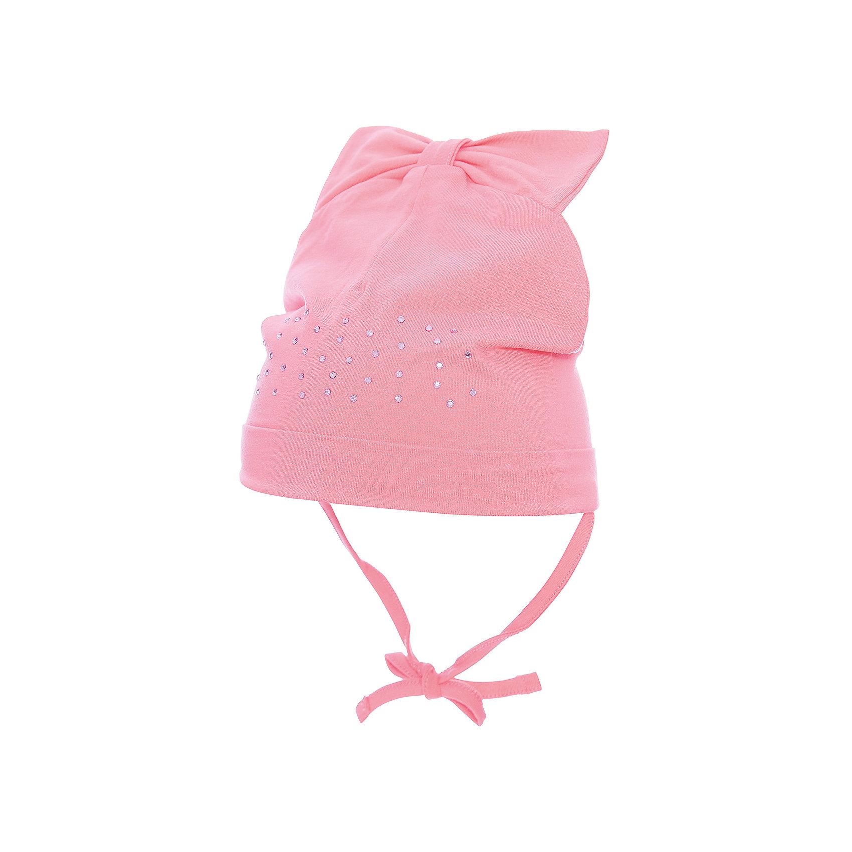 Шапка PlayToday для девочкиШапочки<br>Шапка PlayToday для девочки<br>Шапка из трикотажа - отличное решение для прогулок в прохладную погоду. Модель на завязках, плотно прилегает к голове, комфортна при носке. В качестве декора на шапке использован трикотажный бант-вставка и россыпь из страз.<br>Состав:<br>92% хлопок, 8% эластан<br><br>Ширина мм: 89<br>Глубина мм: 117<br>Высота мм: 44<br>Вес г: 155<br>Цвет: розовый<br>Возраст от месяцев: 12<br>Возраст до месяцев: 18<br>Пол: Женский<br>Возраст: Детский<br>Размер: 48,46<br>SKU: 7110238