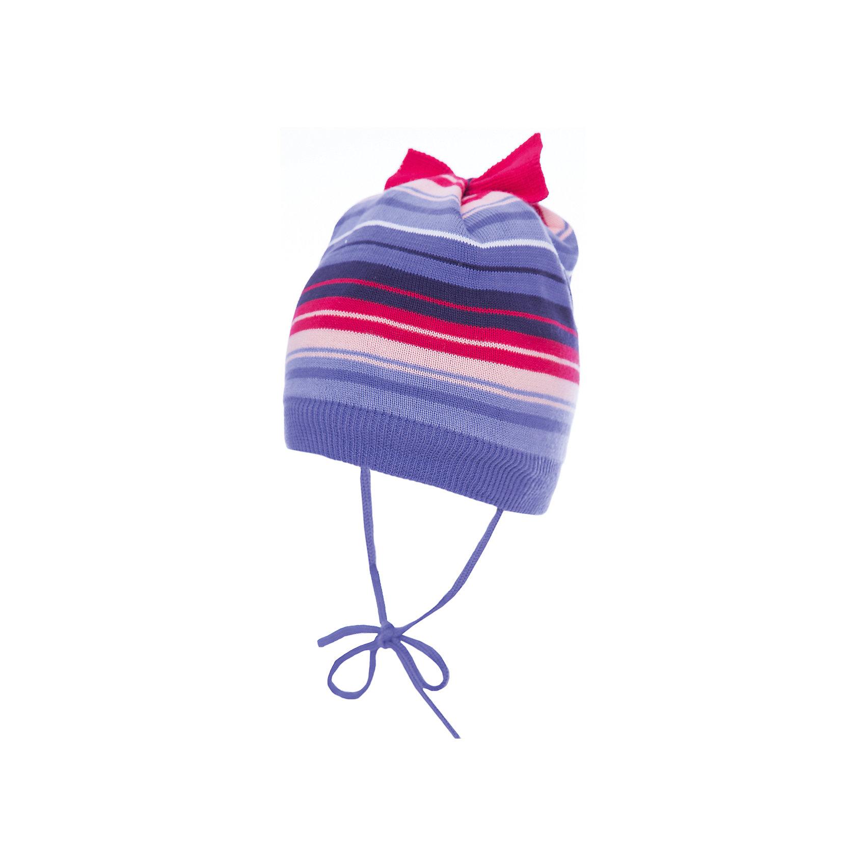 Шапка PlayToday для девочкиДемисезонные<br>Шапка PlayToday для девочки<br>Шапка из трикотажа на подкладке - отличное решение для холодной погоды. Модель на завязках, дополнена оригинальным бантом. Подкладка изделия из теплого флиса. Модель выполнена в технике yarn dyed- в процессе производства используются разного цвета нити. При рекомендуемом уходе изделие не линяет и надолго остается в первоначальном виде.<br>Состав:<br>80% хлопок 20% акрил<br><br>Ширина мм: 89<br>Глубина мм: 117<br>Высота мм: 44<br>Вес г: 155<br>Цвет: белый<br>Возраст от месяцев: 12<br>Возраст до месяцев: 18<br>Пол: Женский<br>Возраст: Детский<br>Размер: 48,46<br>SKU: 7110241