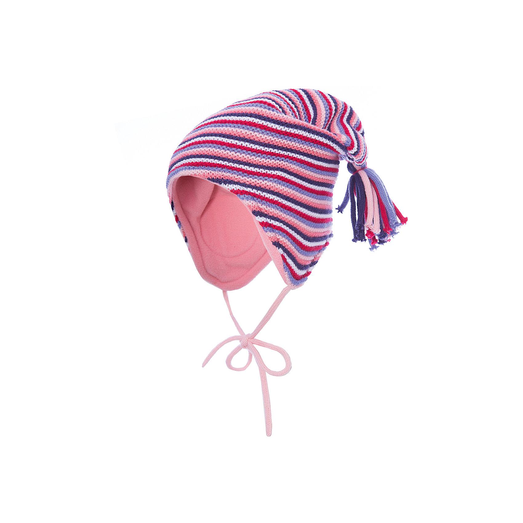 Шапка PlayToday для девочкиШапочки<br>Шапка PlayToday для девочки<br>Шапка из трикотажа на подкладке - отличное решение для холодной погоды. Модель на завязках, декорирована оригинальным помпоном - кисточкой. Подкладка изделия из теплого флиса, в области ушей дополнена специальными вставками. Эргономичная конструкция такой шапки защитит уши ребенка при сильном ветре.<br>Состав:<br>100% акрил<br><br>Ширина мм: 89<br>Глубина мм: 117<br>Высота мм: 44<br>Вес г: 155<br>Цвет: белый<br>Возраст от месяцев: 12<br>Возраст до месяцев: 18<br>Пол: Женский<br>Возраст: Детский<br>Размер: 48,46<br>SKU: 7110244