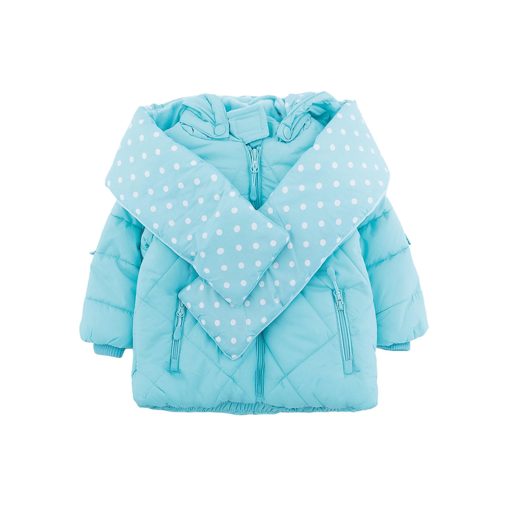 Куртка PlayToday для девочкиВерхняя одежда<br>Куртка PlayToday для девочки<br>Теплая куртка на молнии. Вшивной капюшон сделан в виде колпака, декорированным помпоном из искусственного меха. Внутренняя отделка выполнена из велюра в тон изделия. Светоотражатели обеспечат безопасноть ребенка в темное время суток. Горловина, манжеты и низ изделия на мягких трикотажных резинках. Куртка дополнена оригинальным плотным утепленным шарфом из материала полностью повторяющего материал куртки.<br>Состав:<br>Верх: 100% полиэстер, подкладка: 80% хлопок, 20% полиэстер, Утеплитель 100% полиэстер, 300 г/м2<br><br>Ширина мм: 356<br>Глубина мм: 10<br>Высота мм: 245<br>Вес г: 519<br>Цвет: голубой<br>Возраст от месяцев: 12<br>Возраст до месяцев: 15<br>Пол: Женский<br>Возраст: Детский<br>Размер: 80,86,92,74<br>SKU: 7110267