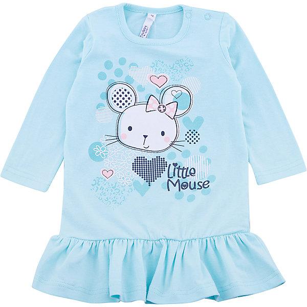Платье PlayToday для девочкиПлатья<br>Характеристики товара:<br><br>• цвет: голубой<br>• состав ткани: 95% хлопок, 5% эластан<br>• сезон: демисезон<br>• застежка: кнопки<br>• длинные рукава<br>• страна бренда: Германия<br>• страна изготовитель: Китай<br><br>Детская одежда и обувь от PlayToday - это стильные вещи по доступным ценам. Стильное платье для детей сделано из качественного материала. Такое платье для девочки - удобная и модная вещь. Детское платье - с заниженной талией и длинным рукавом. <br><br>Платье PlayToday (ПлэйТудэй) для девочки можно купить в нашем интернет-магазине.<br>Ширина мм: 236; Глубина мм: 16; Высота мм: 184; Вес г: 177; Цвет: белый; Возраст от месяцев: 6; Возраст до месяцев: 9; Пол: Женский; Возраст: Детский; Размер: 74,92,80,86; SKU: 7110387;