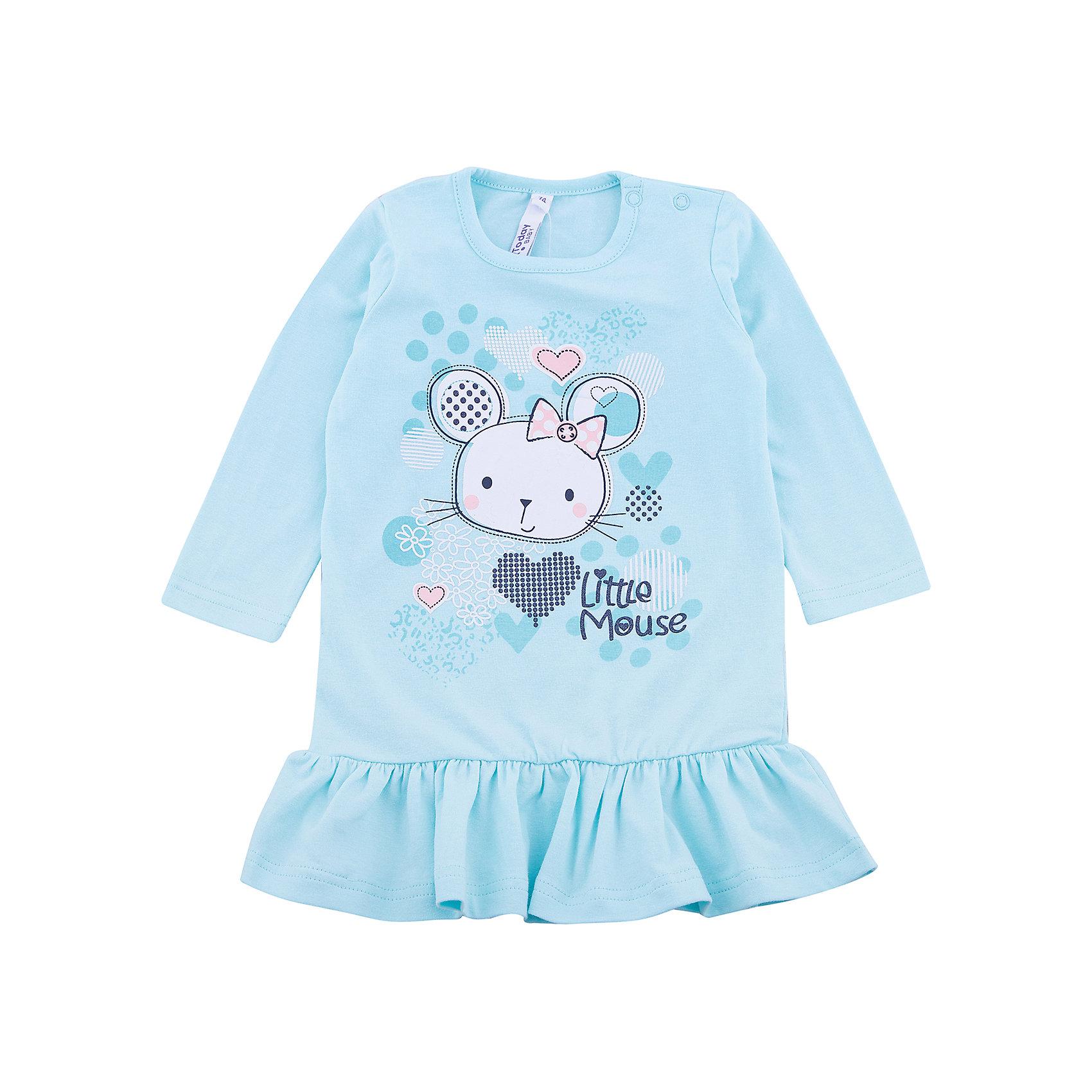 Платье PlayToday для девочкиПлатья<br>Платье PlayToday для девочки<br>Платье с длинным рукавом и заниженной талией. Модель из натурального хлопка, по низу дополнена оборкой. Для удобства снимания и одевания на плече расположены застежки - кнопки. В качестве декора использован яркий принт.<br>Состав:<br>95% хлопок, 5% эластан<br><br>Ширина мм: 236<br>Глубина мм: 16<br>Высота мм: 184<br>Вес г: 177<br>Цвет: белый<br>Возраст от месяцев: 18<br>Возраст до месяцев: 24<br>Пол: Женский<br>Возраст: Детский<br>Размер: 92,74,80,86<br>SKU: 7110387
