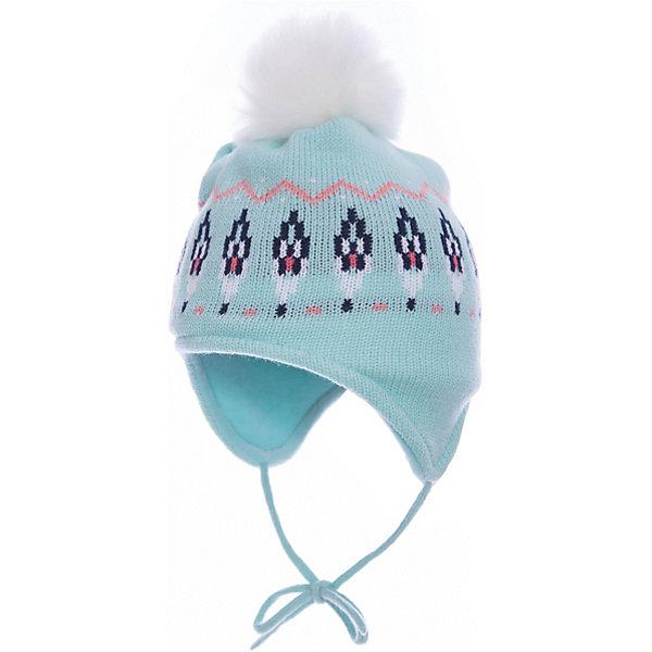 Шапка PlayToday для девочкиШапочки<br>Характеристики товара:<br><br>• цвет: белый<br>• состав ткани: 100% акрил<br>• сезон: зима<br>• застежка: завязки<br>• страна бренда: Германия<br>• страна изготовитель: Китай<br><br>Вязаная шапка для девочки выполнена в универсальном цвете. Детская шапка комфортно сидит на голове благодаря мягкому материалу. Шапка для детей декорирована помпоном. Детская одежда и обувь от PlayToday - это стильные вещи по доступным ценам. <br><br>Шапку PlayToday (ПлэйТудэй) для девочки можно купить в нашем интернет-магазине.<br>Ширина мм: 89; Глубина мм: 117; Высота мм: 44; Вес г: 155; Цвет: белый; Возраст от месяцев: 6; Возраст до месяцев: 9; Пол: Женский; Возраст: Детский; Размер: 46,48; SKU: 7110395;