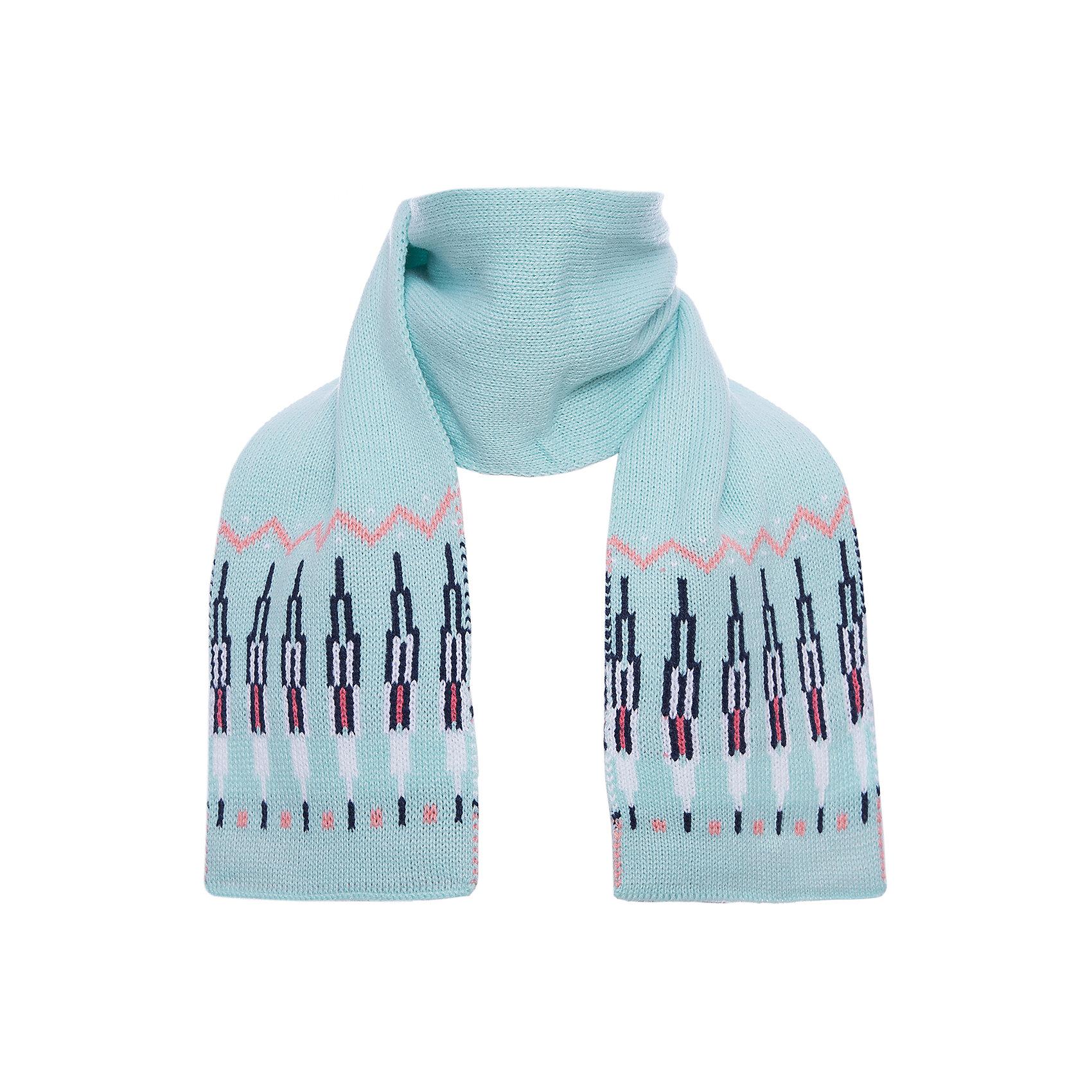 Шарф PlayToday для девочкиШарфы, платки<br>Шарф PlayToday для девочки<br>Плотный вязаный двуслойный шарф. Выполнен по технологии yarn dyed - в процессе производства используются разного цвета нити. При рекомендуемом уходе изделие не линяет и надолго остается в первоначальном виде.<br>Состав:<br>100% акрил<br><br>Ширина мм: 88<br>Глубина мм: 155<br>Высота мм: 26<br>Вес г: 106<br>Цвет: белый<br>Возраст от месяцев: 36<br>Возраст до месяцев: 96<br>Пол: Женский<br>Возраст: Детский<br>Размер: one size<br>SKU: 7110398