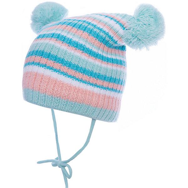 Шапка PlayToday для девочкиШапочки<br>Характеристики товара:<br><br>• цвет: голубой<br>• состав ткани: 60% хлопок, 40% акрил<br>• подкладка: 100% полиэстер<br>• сезон: зима<br>• застежка: завязки<br>• страна бренда: Германия<br>• страна изготовитель: Китай<br><br>Двухслойная шапка для девочки выполнена в универсальном цвете. Детская шапка комфортно сидит на голове благодаря мягкому материалу. Шапка для детей декорирована помпонами. Детская одежда и обувь от PlayToday - это стильные вещи по доступным ценам. <br><br>Шапку PlayToday (ПлэйТудэй) для девочки можно купить в нашем интернет-магазине.<br><br>Ширина мм: 89<br>Глубина мм: 117<br>Высота мм: 44<br>Вес г: 155<br>Цвет: белый<br>Возраст от месяцев: 6<br>Возраст до месяцев: 9<br>Пол: Женский<br>Возраст: Детский<br>Размер: 46,48<br>SKU: 7110403