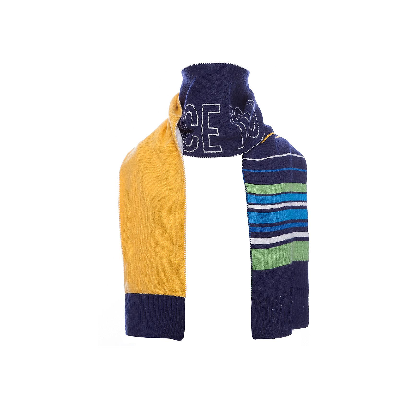 Шарф PlayToday для мальчикаШарфы, платки<br>Шарф PlayToday для мальчика<br>Стильный вязаный шарф согреет ребенка в промозглую погоду и дополнит образ. Модель выполнена в технике yarn dyed - в процессе производства используются разного цвета нити. При рекомендуемом уходе изделие не линяет и надолго остается в первоначальном виде. За счет высокого содержание в материале натурального хлопка шарф не вызывает раздражений нежной детской кожи.<br>Состав:<br>60% хлопок, 40% акрил<br><br>Ширина мм: 88<br>Глубина мм: 155<br>Высота мм: 26<br>Вес г: 106<br>Цвет: белый<br>Возраст от месяцев: 36<br>Возраст до месяцев: 96<br>Пол: Мужской<br>Возраст: Детский<br>Размер: one size<br>SKU: 7110913