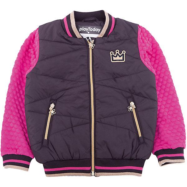 Куртка PlayToday для девочкиВерхняя одежда<br>Характеристики товара:<br><br>• цвет: розовый<br>• состав ткани: 100% полиэстер<br>• подкладка: 100% полиэстер<br>• утеплитель: 100% полиэстер<br>• сезон: демисезон<br>• температурный режим: от -10 до +10<br>• плотность утеплителя: 150 г/м2<br>• особенности модели: стеганая<br>• застежка: молния<br>• длинные рукава<br>• страна бренда: Германия<br>• страна изготовитель: Китай<br><br>Детская одежда и обувь от PlayToday - это стильные вещи по доступным ценам. Эта детская стильная куртка - с практичными аппликациями-налокотниками из полиэстера. Утепленная куртка для девочки выполнена в красивой яркой расцветке. Куртка для детей дополнена манжетами. <br><br>Куртку PlayToday (ПлэйТудэй) для девочки можно купить в нашем интернет-магазине.<br><br>Ширина мм: 356<br>Глубина мм: 10<br>Высота мм: 245<br>Вес г: 519<br>Цвет: белый<br>Возраст от месяцев: 84<br>Возраст до месяцев: 96<br>Пол: Женский<br>Возраст: Детский<br>Размер: 128,98,104,110,116,122<br>SKU: 7110959