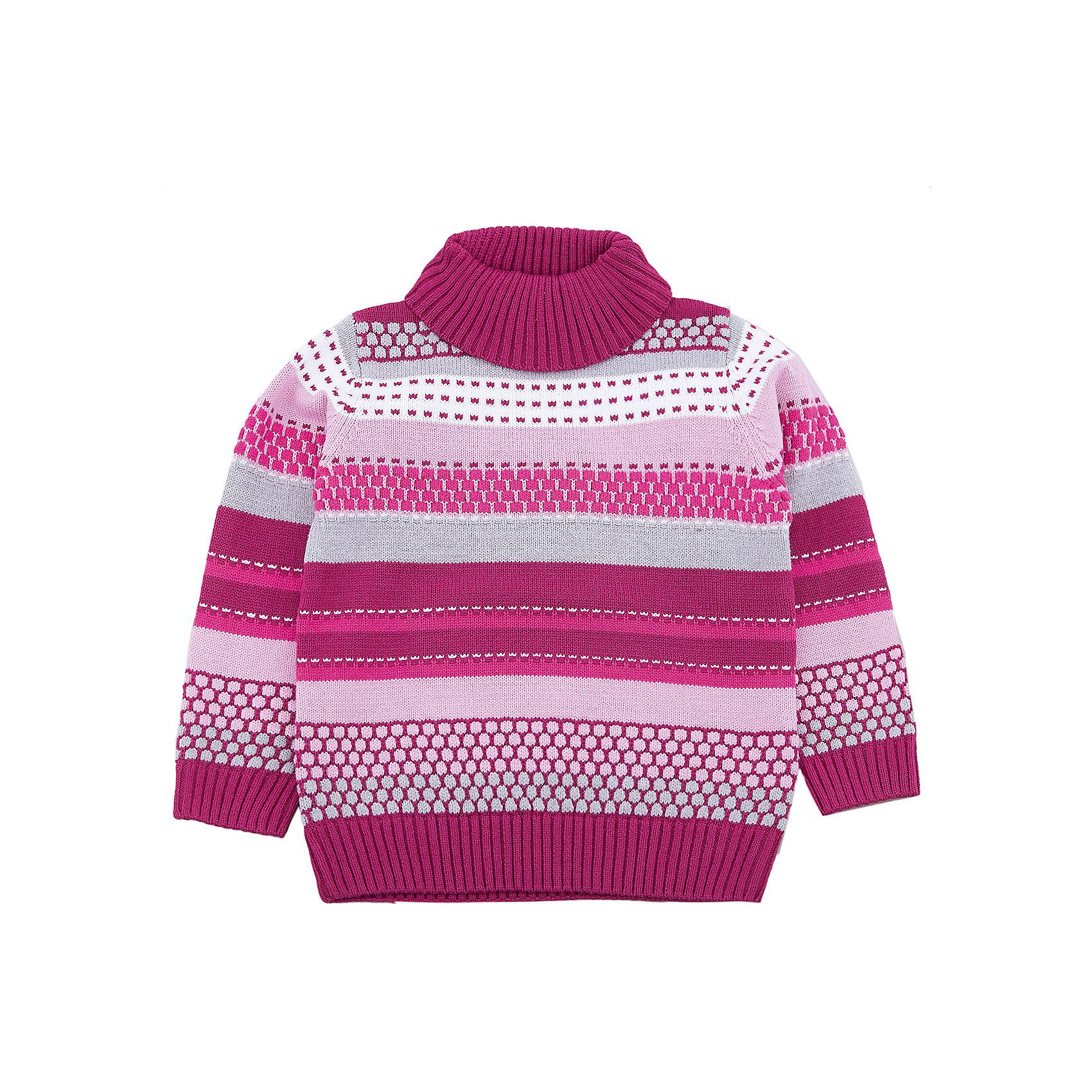 Свитер PlayToday для девочкиСвитера и кардиганы<br>Свитер PlayToday для девочки<br>Вязаный свитер. Модель выполнена по технологии yarn dyed -  в процессе производства используются разного цвета нити. При правильном уходе изделие не линяет и надолго остается в первоначальном виде. Горловина, манжеты и низ изделия на мягких трикотажных резинках. Свободный крой не сковывает движений ребенка.<br>Состав:<br>60% хлопок, 40% акрил<br><br>Ширина мм: 190<br>Глубина мм: 74<br>Высота мм: 229<br>Вес г: 236<br>Цвет: белый<br>Возраст от месяцев: 84<br>Возраст до месяцев: 96<br>Пол: Женский<br>Возраст: Детский<br>Размер: 128,98,104,110,116,122<br>SKU: 7110987