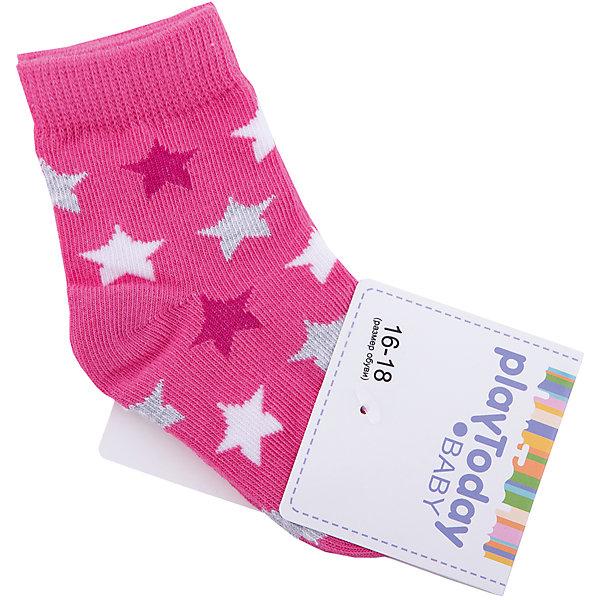 Носки PlayToday для девочкиНоски<br>Характеристики товара:<br><br>• цвет: розовый<br>• состав ткани: 75% хлопок, 22% нейлон, 3% эластан<br>• сезон: круглый год<br>• страна бренда: Германия<br>• страна изготовитель: Китай<br><br>Удобные детские носки хорошо сохраняют форму и яркость цвета. Эти трикотажные носки для мальчика выполнены в красивой расцветке. Носки для детей сделаны из дышащего мягкого материала. Детская одежда и обувь от PlayToday - это стильные вещи по доступным ценам. <br><br>Носки PlayToday (ПлэйТудэй) для мальчика можно купить в нашем интернет-магазине.<br>Ширина мм: 87; Глубина мм: 10; Высота мм: 105; Вес г: 115; Цвет: белый; Возраст от месяцев: 12; Возраст до месяцев: 18; Пол: Женский; Возраст: Детский; Размер: 11,12; SKU: 7111194;
