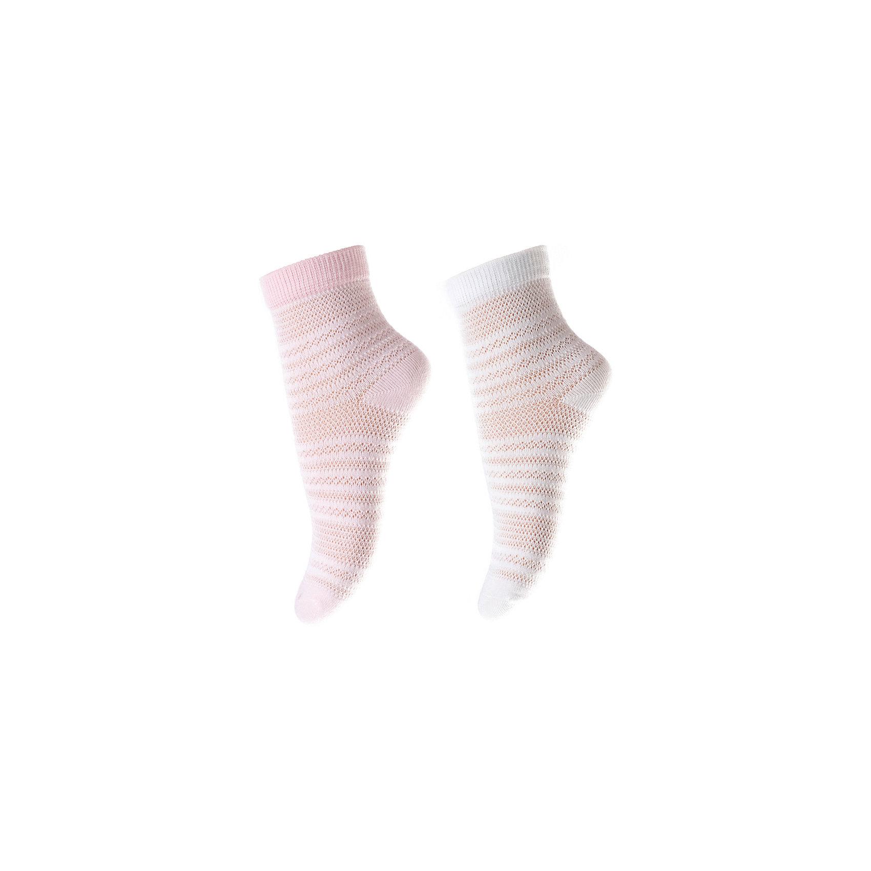 Носки, 2 пары  PlayToday для девочкиНосочки и колготки<br>Носки PlayToday для девочки<br>Носки очень мягкие, из качественных материалов, приятны к телу и не сковывают движений. Эффектной ажурной вязки. Хорошо пропускают воздух, тем самым позволяя коже дышать.  Даже частые стирки, при условии соблюдений рекомендаций по уходу, не изменят ни форму, ни цвет изделий.<br>Состав:<br>75% хлопок, 22% нейлон, 3% эластан<br><br>Ширина мм: 87<br>Глубина мм: 10<br>Высота мм: 105<br>Вес г: 115<br>Цвет: белый<br>Возраст от месяцев: 18<br>Возраст до месяцев: 24<br>Пол: Женский<br>Возраст: Детский<br>Размер: 12,11<br>SKU: 7111203