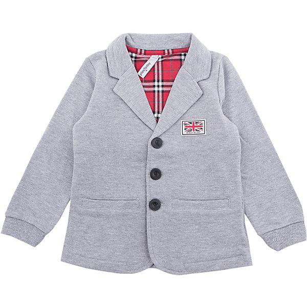Пиджак PlayToday для мальчикаКостюмы и пиджаки<br>Характеристики товара:<br><br>• цвет: серый<br>• состав ткани: 65% хлопок, 35% полиэстер<br>• сезон: демисезон<br>• застежка: пуговицы<br>• длинные рукава<br>• страна бренда: Германия<br>• страна изготовитель: Китай<br><br>Этот пиджак для мальчика снабжен мягкими манжетами. Детский пиджак обеспечит ребенку тепло и комфорт, а также стильный внешний вид. Пиджак для детей дополнена карманами. Детская одежда и обувь от европейского бренда PlayToday - выбор многих родителей. <br><br>Пиджак PlayToday (ПлэйТудэй) для мальчика можно купить в нашем интернет-магазине.<br><br>Ширина мм: 356<br>Глубина мм: 10<br>Высота мм: 245<br>Вес г: 519<br>Цвет: белый<br>Возраст от месяцев: 24<br>Возраст до месяцев: 36<br>Пол: Мужской<br>Возраст: Детский<br>Размер: 98,104,110,116,122,128<br>SKU: 7111407