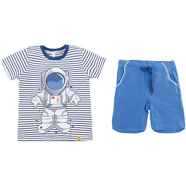 Комплект: футболка и шорты PlayToday для мальчикаКомплекты<br>Характеристики товара:<br><br>• цвет: синий<br>• комплектация: футболка и шорты<br>• состав ткани: 95% хлопок, 5% эластан<br>• сезон: лето<br>• особенность модели: спортивный стиль<br>• короткие рукава<br>• пояс: резинка, шнурок<br>• страна бренда: Германия<br>• страна изготовитель: Китай<br><br>Трикотажный детский комплект состоит из футболки и шорт. Комплект для мальчика подойдет для занятий спортом. Комплект для детей сделан из легких качественных материалов. Детская одежда и обувь от европейского бренда PlayToday - выбор многих родителей. <br><br>Комплект: футболка и шорты PlayToday (ПлэйТудэй) для мальчика можно купить в нашем интернет-магазине.<br>Ширина мм: 199; Глубина мм: 10; Высота мм: 161; Вес г: 151; Цвет: белый; Возраст от месяцев: 48; Возраст до месяцев: 60; Пол: Мужской; Возраст: Детский; Размер: 110,98,128,122,116,104; SKU: 7111518;