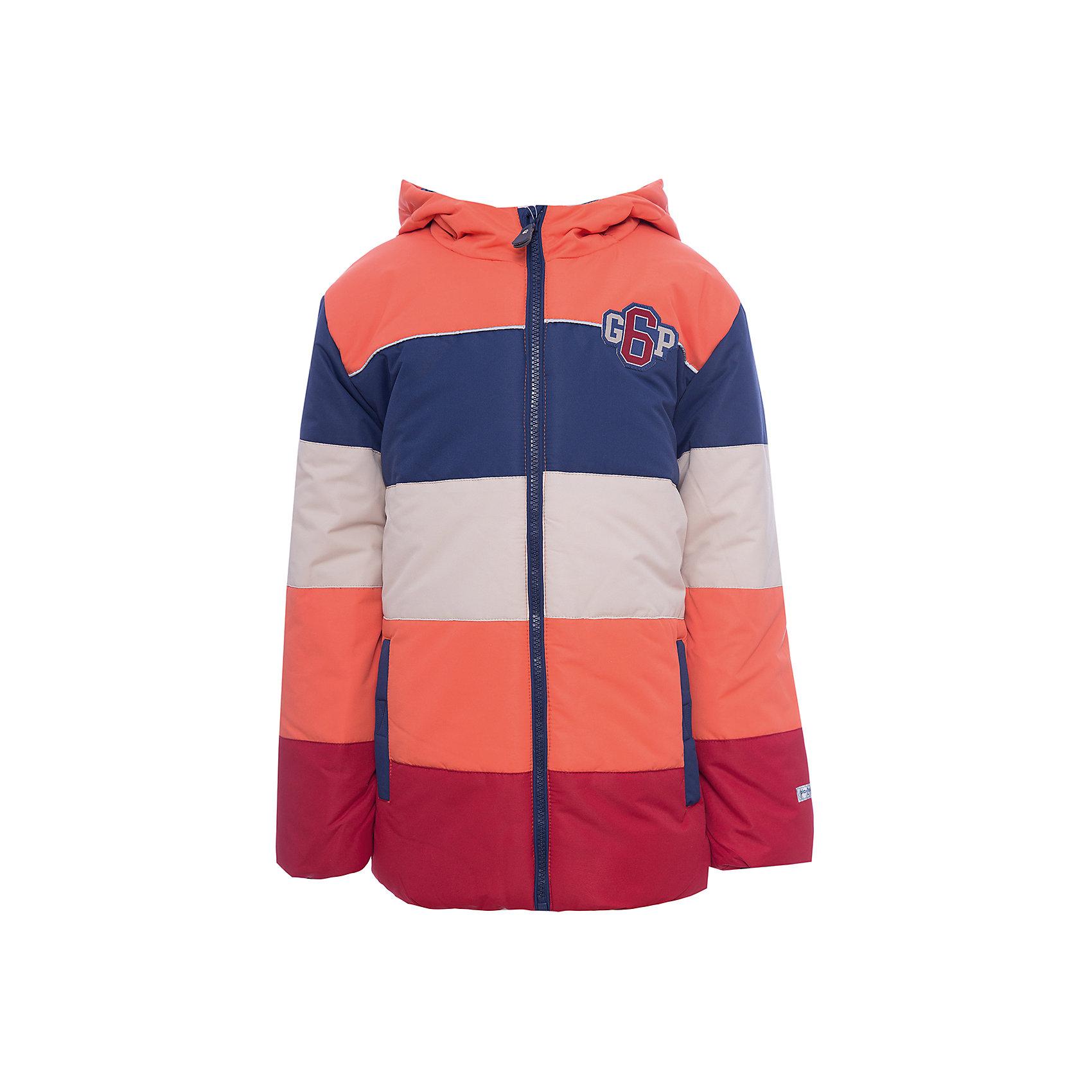 Куртка PlayToday для мальчикаВерхняя одежда<br>Куртка PlayToday для мальчика<br>Утепленная куртка с капюшоном из водоотталкивающей ткани - отличное решение для холодной промозглой погоды. Модель на молнии,  специальный карман для фиксации бегунка у горловины куртки не позволит застежке травмировать нежную детскую кожу. Капюшон на регулируемом шнуре - кулиске. С внутренней стороны для стопперов шнура предусмотрены скрытые карманы. Трикотажные манжеты из плотной резинки сохраняют тепло. Куртка с вшивными карманами на липучках, декорирована аппликацией. Светоотражатели обеспечат видимость ребенка в темное время суток.<br>Состав:<br>Верх: 100% полиэстер, Подкладка: 100% полиэстер, Наполнитель: 100% полиэстер, 260 г/м2<br><br>Ширина мм: 356<br>Глубина мм: 10<br>Высота мм: 245<br>Вес г: 519<br>Цвет: белый<br>Возраст от месяцев: 84<br>Возраст до месяцев: 96<br>Пол: Мужской<br>Возраст: Детский<br>Размер: 128,98,104,110,116,122<br>SKU: 7111539