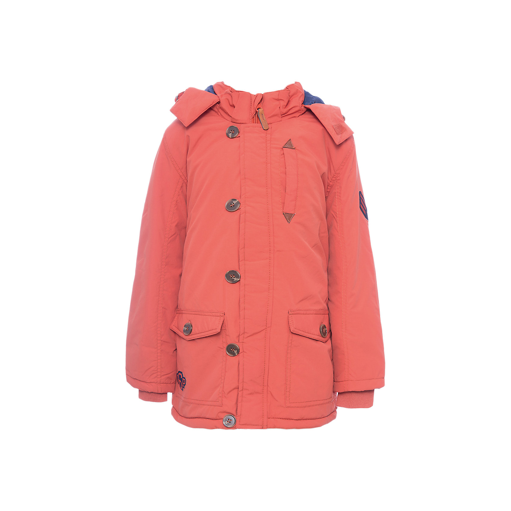 Куртка PlayToday для мальчикаВерхняя одежда<br>Куртка PlayToday для мальчика<br>Утепленная куртка - парка с капюшоном из водоотталкивающей ткани. Модель на молнии. Специальный карман для фиксации бегунка не позволит застежке травмировать нежную детскую кожу. Подкладка модели из мягкого флиса. Куртка с удлиненной спинкой. Капюшон на молнии, при необходимости его можно отстегнуть.  Рукава дополнены трикотажными манжетами для дополнительного сохранения тепла. Светоотражатели обеспечаат видимость ребенка в темное время суток.<br>Состав:<br>Верх: 100% нейлон, подкладка: 100% полиэстер, наполнитель: 100% полиэстер, 150 г/м2<br><br>Ширина мм: 356<br>Глубина мм: 10<br>Высота мм: 245<br>Вес г: 519<br>Цвет: оранжевый<br>Возраст от месяцев: 84<br>Возраст до месяцев: 96<br>Пол: Мужской<br>Возраст: Детский<br>Размер: 98,104,110,116,122,128<br>SKU: 7111546