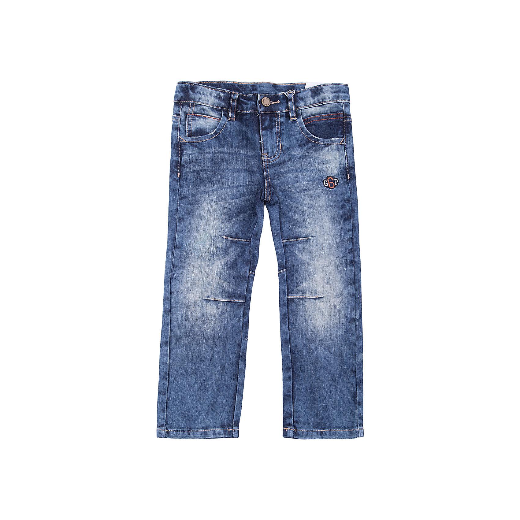 Брюки PlayToday для мальчикаДжинсы<br>Брюки PlayToday для мальчика<br>Удобные практичные брюки - джинсы. Классическая 5-ти карманная модель. Джинсы декорированы потертостями и декоративной строчкой.<br>Состав:<br>98% хлопок, 2% эластан<br><br>Ширина мм: 215<br>Глубина мм: 88<br>Высота мм: 191<br>Вес г: 336<br>Цвет: синий<br>Возраст от месяцев: 84<br>Возраст до месяцев: 96<br>Пол: Мужской<br>Возраст: Детский<br>Размер: 128,98,104,110,116,122<br>SKU: 7111623