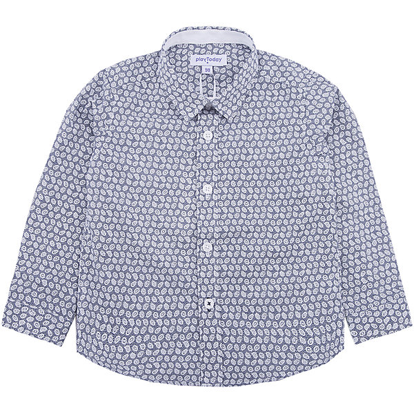 Рубашка PlayToday для мальчикаБлузки и рубашки<br>Характеристики товара:<br><br>• цвет: белый<br>• состав ткани: 45% хлопок, 55% полиэстер<br>• сезон: демисезон<br>• застежка: пуговицы<br>• длинные рукава<br>• страна бренда: Германия<br>• страна изготовитель: Китай<br><br>Стильная детская рубашка мягкая и приятная на ощупь. Рубашка для мальчика выполнена в красивой расцветке. Рубашка для детей - с отложным воротником. Детская одежда и обувь от PlayToday - это стильные вещи по доступным ценам. <br><br>Рубашку PlayToday (ПлэйТудэй) для мальчика можно купить в нашем интернет-магазине.<br><br>Ширина мм: 174<br>Глубина мм: 10<br>Высота мм: 169<br>Вес г: 157<br>Цвет: белый<br>Возраст от месяцев: 24<br>Возраст до месяцев: 36<br>Пол: Мужской<br>Возраст: Детский<br>Размер: 98,128,122,116,110,104<br>SKU: 7111757