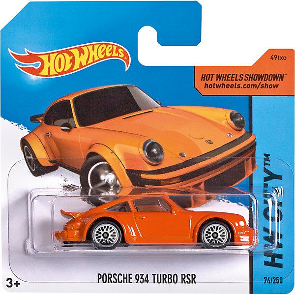 Базовая машинка Hot Wheels, Porsche 934 Turbo RSRМашинки<br><br><br>Ширина мм: 110<br>Глубина мм: 45<br>Высота мм: 110<br>Вес г: 30<br>Возраст от месяцев: 36<br>Возраст до месяцев: 96<br>Пол: Мужской<br>Возраст: Детский<br>SKU: 7111903