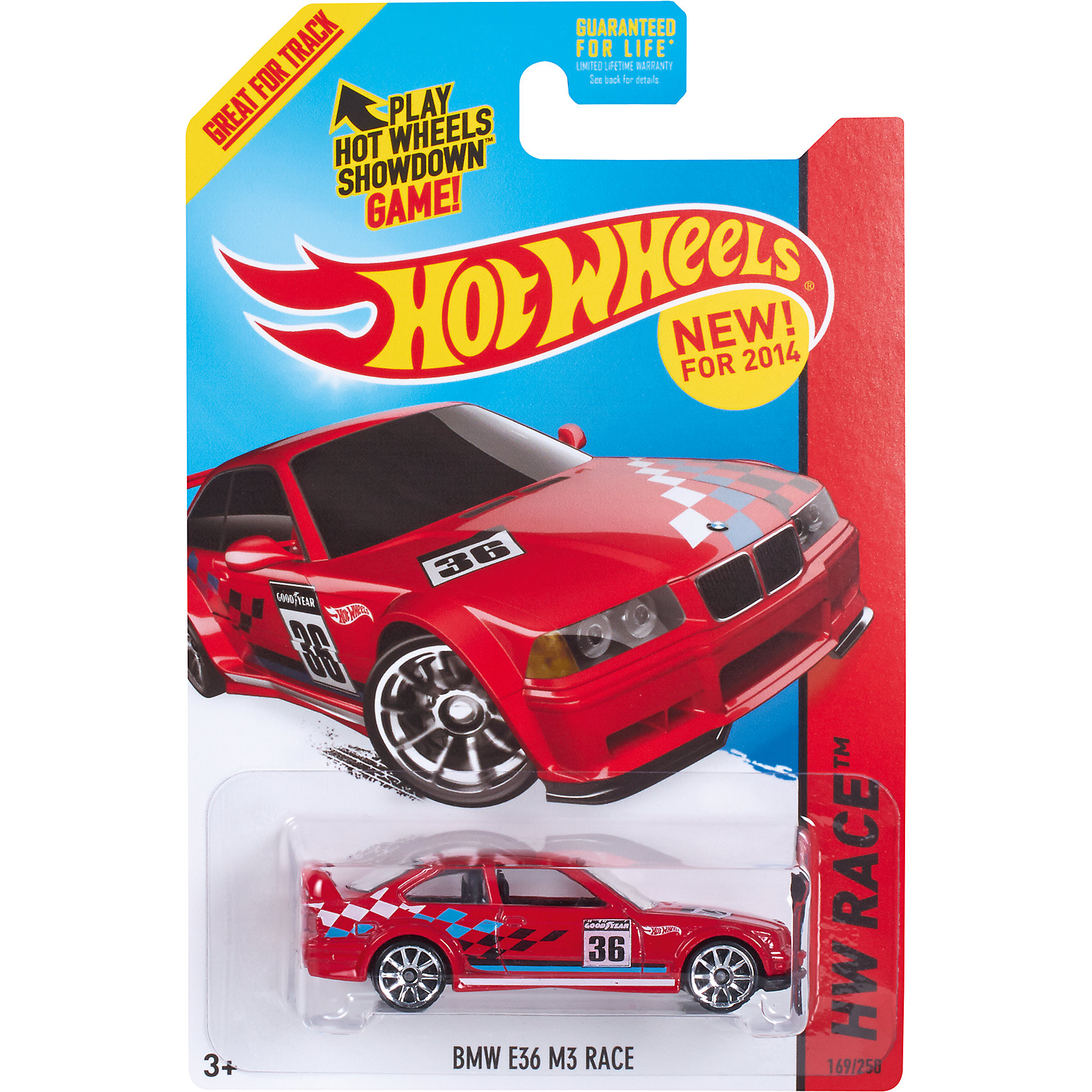 Базовая машинка Hot Wheels, BMW E36 M3 RaceМашинки<br><br><br>Ширина мм: 110<br>Глубина мм: 45<br>Высота мм: 110<br>Вес г: 30<br>Возраст от месяцев: 36<br>Возраст до месяцев: 96<br>Пол: Мужской<br>Возраст: Детский<br>SKU: 7111907