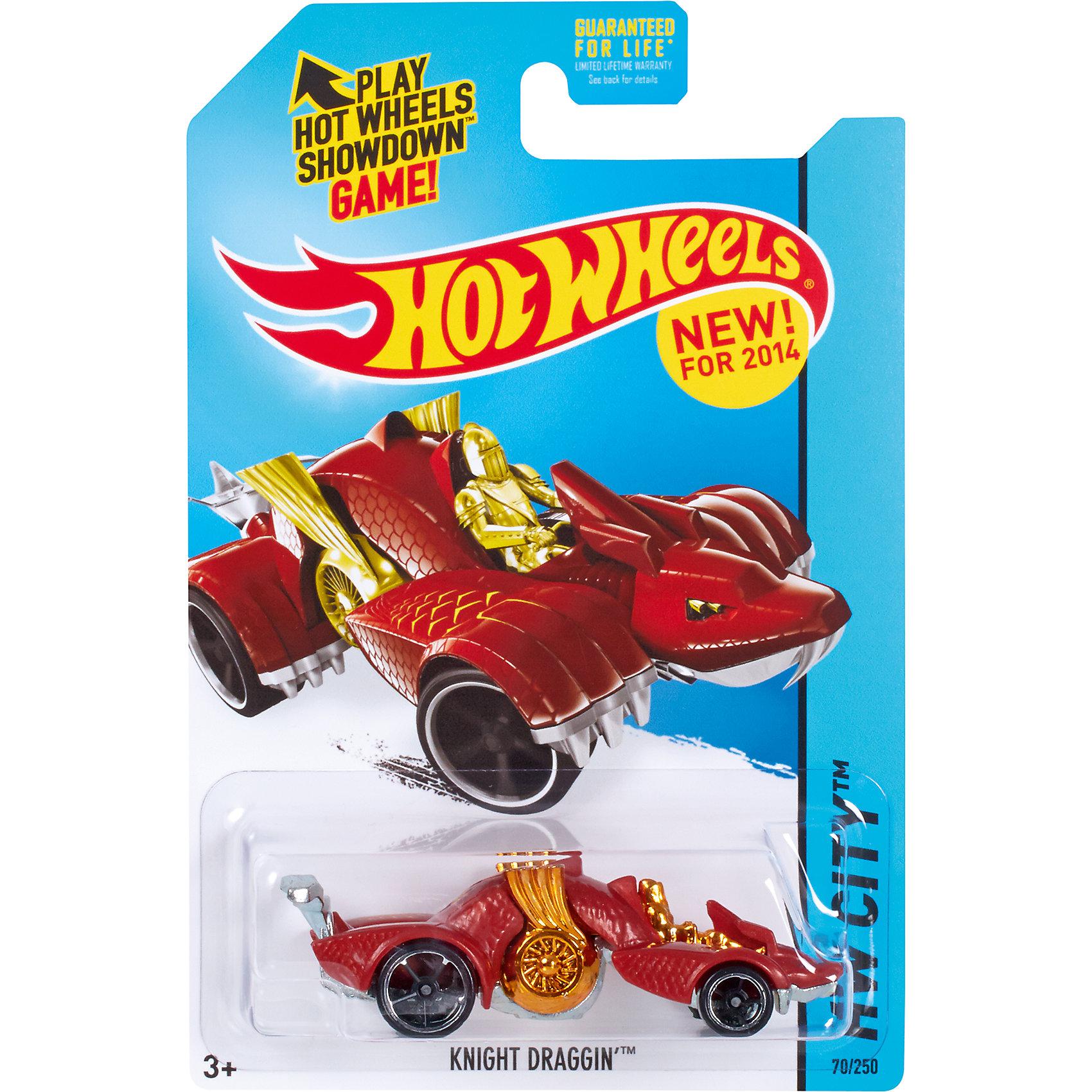 Базовая машинка Hot Wheels, Knight DragginМашинки<br><br><br>Ширина мм: 110<br>Глубина мм: 45<br>Высота мм: 110<br>Вес г: 30<br>Возраст от месяцев: 36<br>Возраст до месяцев: 96<br>Пол: Мужской<br>Возраст: Детский<br>SKU: 7111916