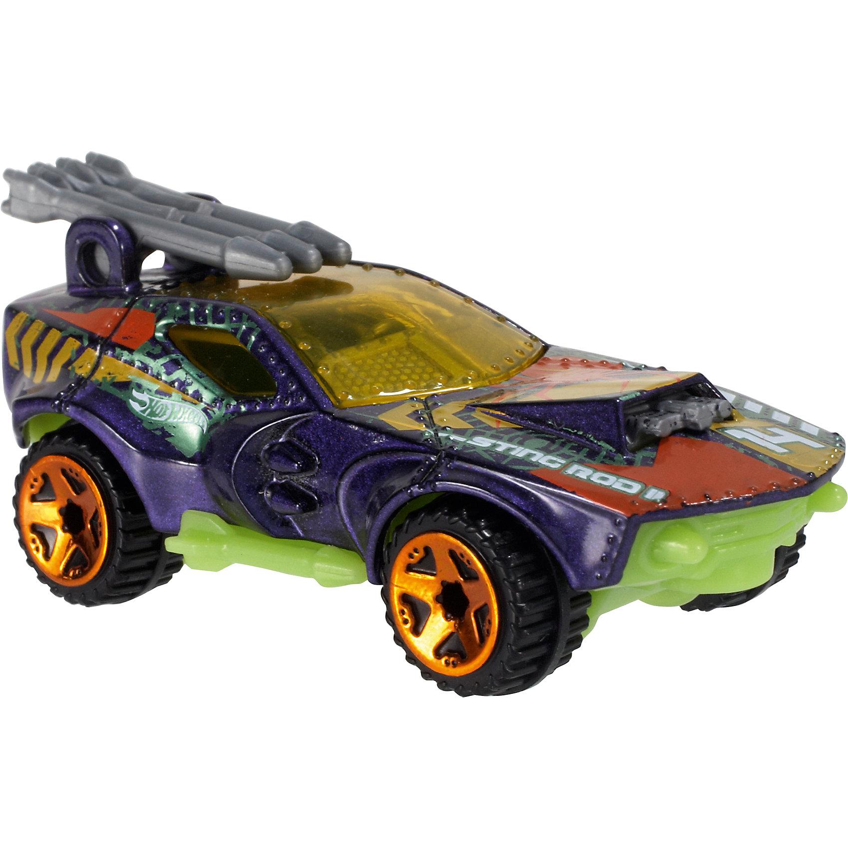 Базовая машинка Hot Wheels, Sting Rod IIМашинки<br><br><br>Ширина мм: 110<br>Глубина мм: 45<br>Высота мм: 110<br>Вес г: 30<br>Возраст от месяцев: 36<br>Возраст до месяцев: 96<br>Пол: Мужской<br>Возраст: Детский<br>SKU: 7111918