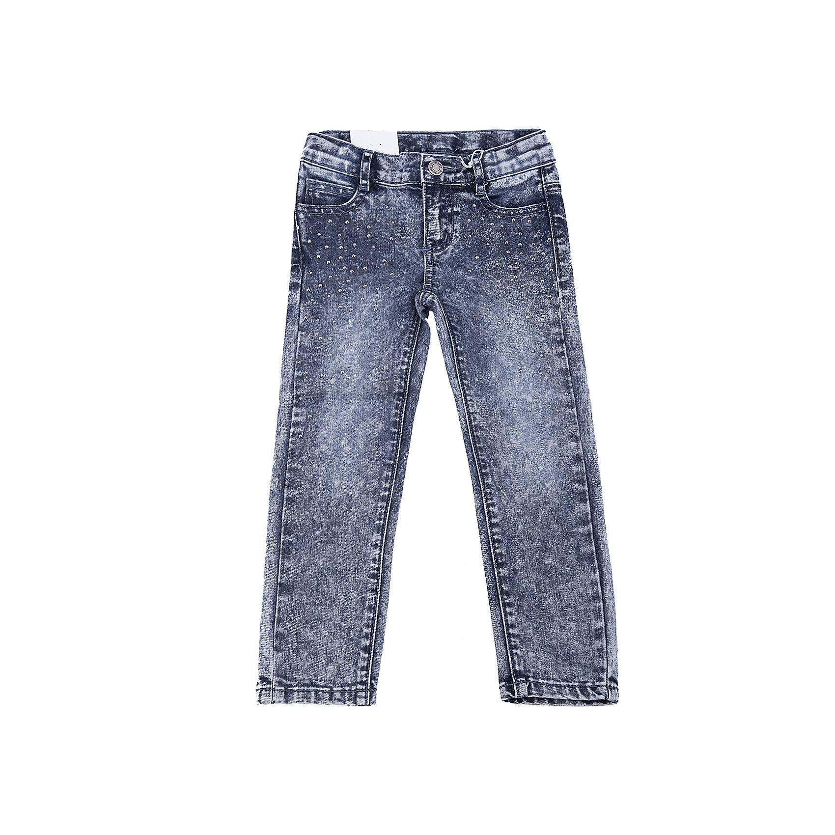 Джинсы PlayToday для девочкиДжинсы<br>Джинсы PlayToday для девочки<br>Брюки - джинсы. Классическая 5-ти карманная модель дополнена шлевками. В качестве декора использована россыпь из страз.<br>Состав:<br>75% хлопок, 23% полиэстер, 2% эластан<br><br>Ширина мм: 215<br>Глубина мм: 88<br>Высота мм: 191<br>Вес г: 336<br>Цвет: синий<br>Возраст от месяцев: 84<br>Возраст до месяцев: 96<br>Пол: Женский<br>Возраст: Детский<br>Размер: 128,110,98,104,116,122<br>SKU: 7115125