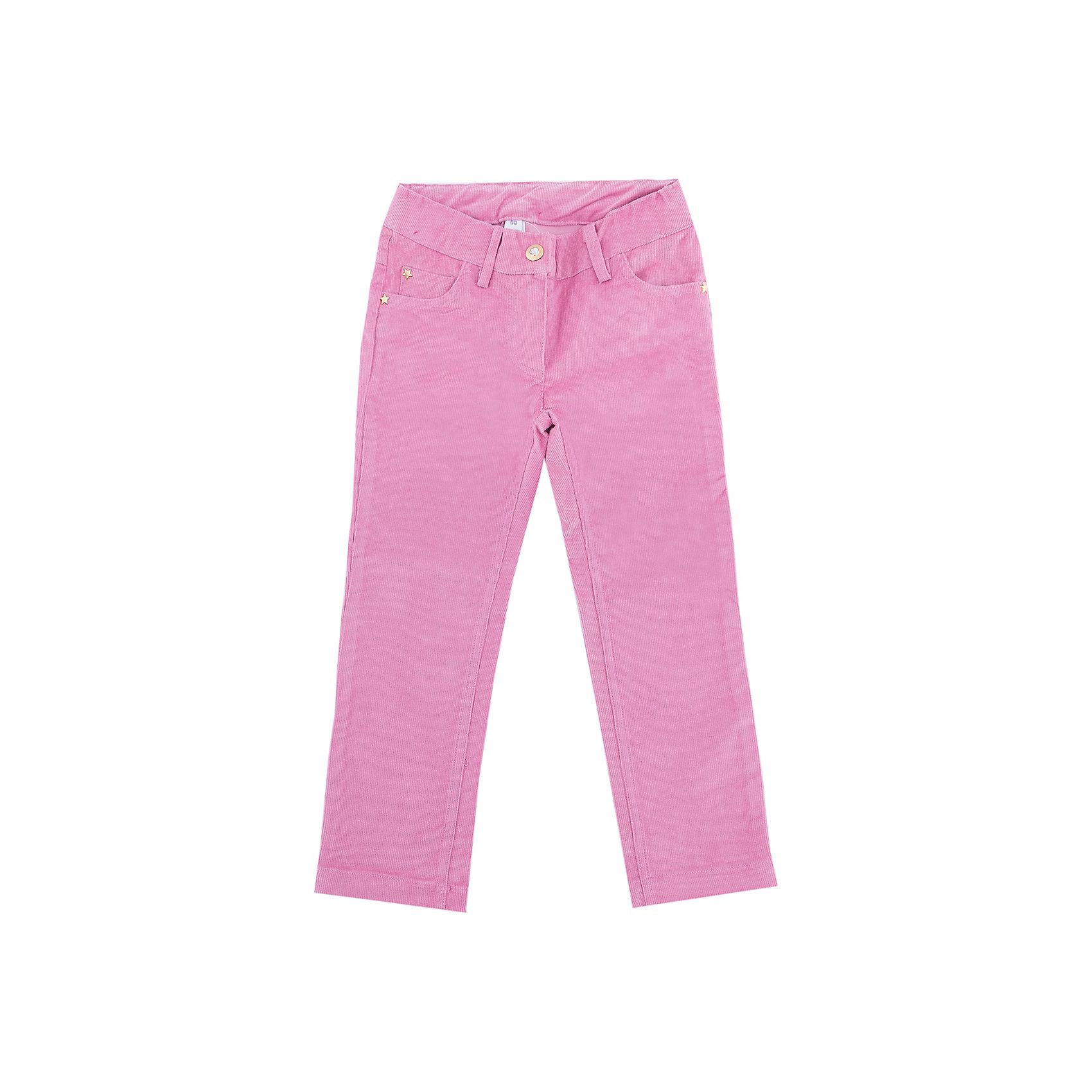 Брюки PlayToday для девочкиБрюки<br>Брюки PlayToday для девочки<br>Практичные вельветовые брюки из натурального хлопка. Классическая 5-ти карманная модель, дополнена шлевками. При необходимости можно использовать ремень. Изнутри пояс можно отрегулировать за счет удобной резинки на пуговицах.<br>Состав:<br>97% хлопок, 3% эластан<br><br>Ширина мм: 215<br>Глубина мм: 88<br>Высота мм: 191<br>Вес г: 336<br>Цвет: розовый<br>Возраст от месяцев: 24<br>Возраст до месяцев: 36<br>Пол: Женский<br>Возраст: Детский<br>Размер: 98,128,122,116,110,104<br>SKU: 7115132