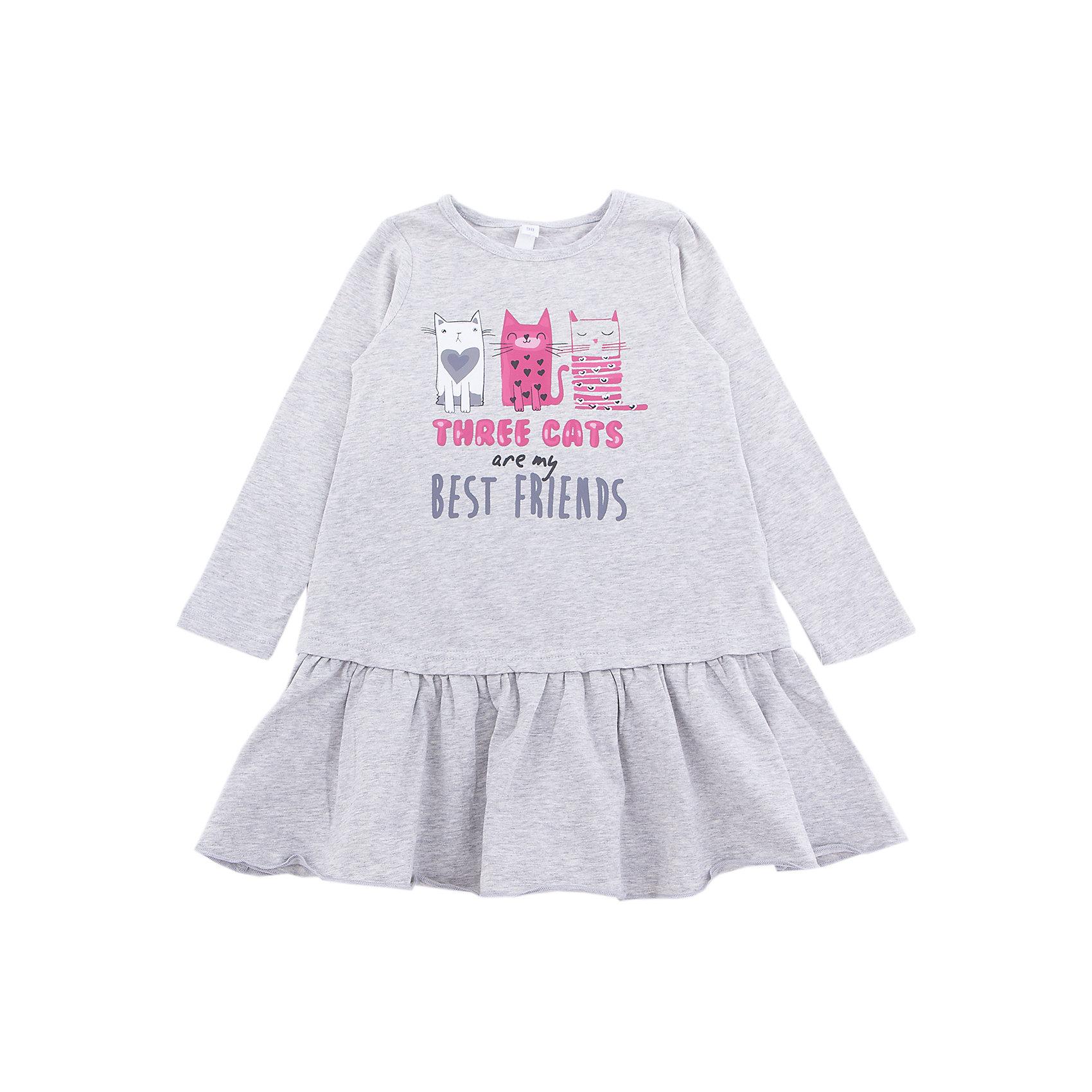 Платье PlayToday для девочкиПлатья и сарафаны<br>Платье PlayToday для девочки<br>Трикотажное платье. Модель декорирована лицензированным принтом. Низ дополнен широкой оборкой. Свободный крой не сковывает движений ребенка.<br>Состав:<br>95% хлопок, 5% эластан<br><br>Ширина мм: 236<br>Глубина мм: 16<br>Высота мм: 184<br>Вес г: 177<br>Цвет: белый<br>Возраст от месяцев: 84<br>Возраст до месяцев: 96<br>Пол: Женский<br>Возраст: Детский<br>Размер: 128,98,104,110,116,122<br>SKU: 7115195