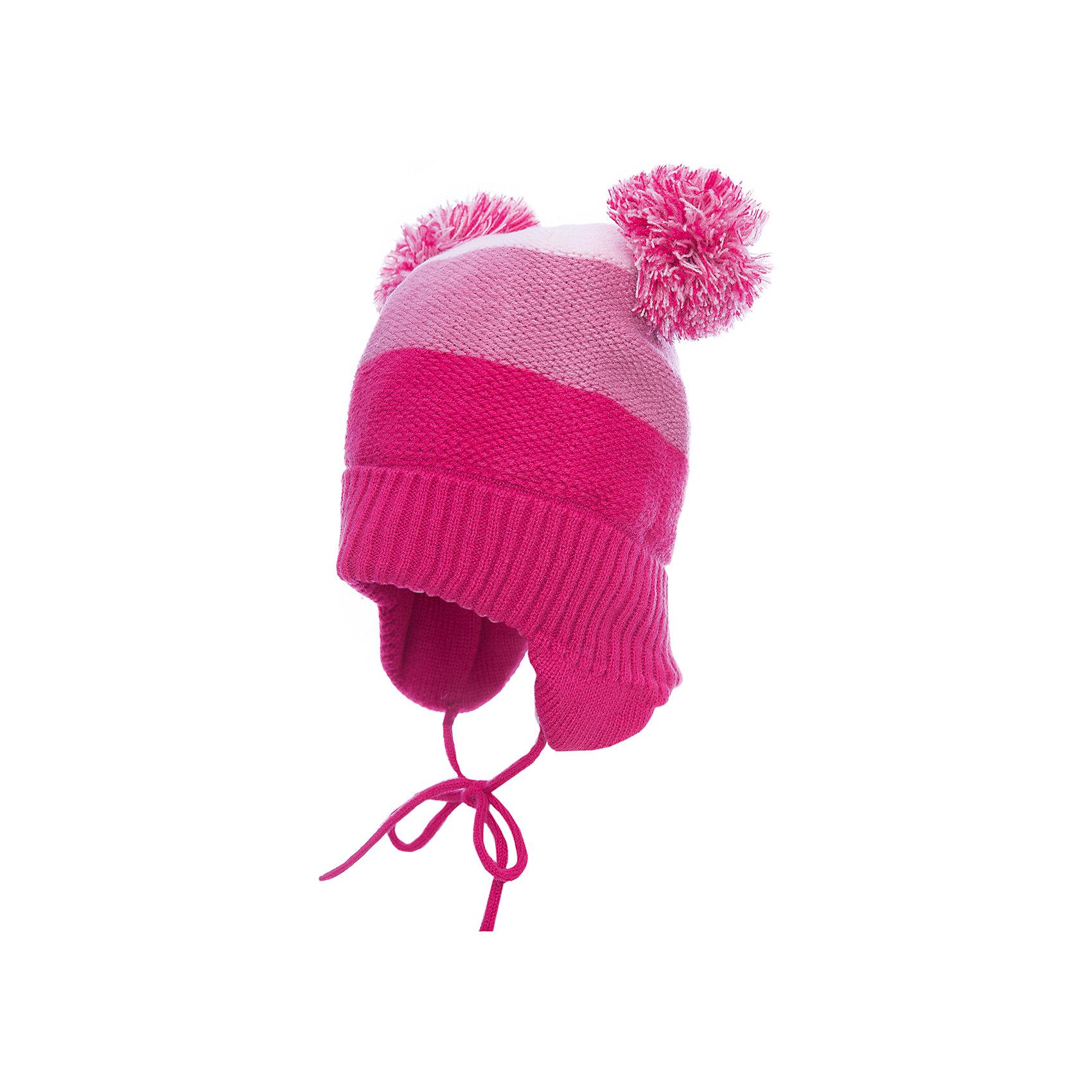 Шапка PlayToday для девочкиГоловные уборы<br>Шапка PlayToday для девочки<br>Шапка из трикотажа на подкладке - отличное решение для прогулок в прохладную погоду. Модель на завязках, комфортна при носке. Шапка выполнена в технике yarn dyed- в процессе производства используются разного цвета нити. При рекомендуемом уходе изделие не линяет и надолго остается в первоначальном виде. Подкладка из смесовой ткани с высоким содержанием натурального хлопка, отлично впитывает лишнюю влагу. Эргономичная конструкция шапки защитит уши ребенка при сильном ветре. Модель дополнена эффектными помпонами.<br>Состав:<br>100% акрил<br><br>Ширина мм: 89<br>Глубина мм: 117<br>Высота мм: 44<br>Вес г: 155<br>Цвет: белый<br>Возраст от месяцев: 72<br>Возраст до месяцев: 84<br>Пол: Женский<br>Возраст: Детский<br>Размер: 54,50,52<br>SKU: 7115295