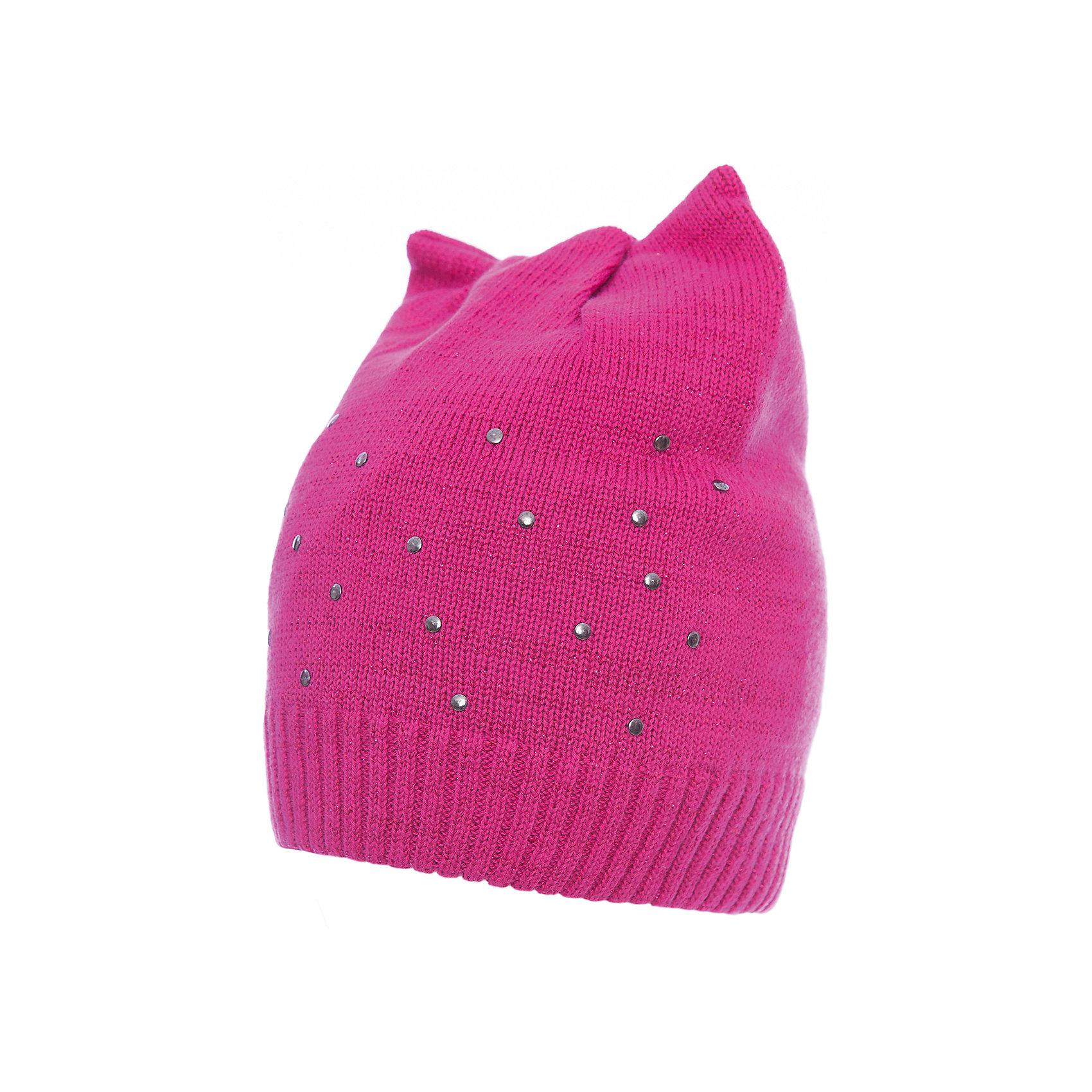 Шапка PlayToday для девочкиГоловные уборы<br>Шапка PlayToday для девочки<br>Двуслойная шапка из мягкого трикотажа с люрексом - отличное решение для холодной погоды. Модель без завязок, плотно прилегает к голове. В качестве декора использованы стразы. Необычная конструкция шапки создает эффект ушек.<br>Состав:<br>80% хлопок, 18% нейлон, 2% эластан<br><br>Ширина мм: 89<br>Глубина мм: 117<br>Высота мм: 44<br>Вес г: 155<br>Цвет: розовый<br>Возраст от месяцев: 24<br>Возраст до месяцев: 36<br>Пол: Женский<br>Возраст: Детский<br>Размер: 50,54,52<br>SKU: 7115305