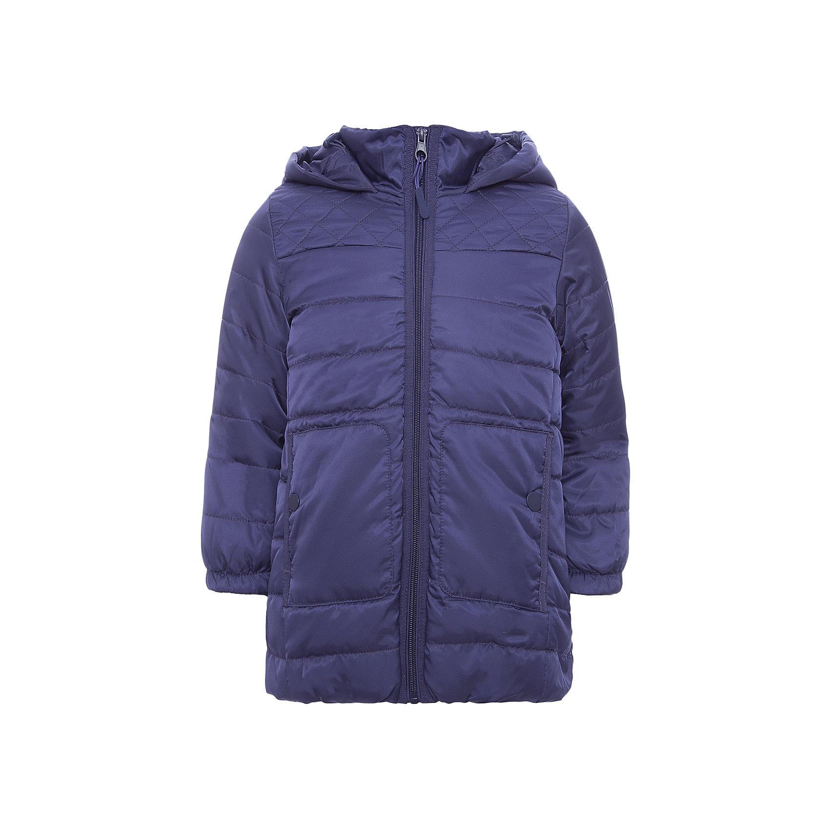 Пальто PlayToday для девочкиВерхняя одежда<br>Пальто PlayToday для девочки<br>Утепленное стеганое пальто. Модель дополнена вшивным капюшоном на регулируемом шнуре - кулиске. Изнутри капюшона предусмотрены удобные карманы для стопперов. Манжеты и низ изделия на мягкой трикотажной резинке. Светоотражатели обеспечат видимость ребенка в темное время суток.<br>Состав:<br>Верх: 100% полиэстер, Подкладка: 100% полиэстер, Наполнитель: 100% полиэстер, 250 г/м2<br><br>Ширина мм: 356<br>Глубина мм: 10<br>Высота мм: 245<br>Вес г: 519<br>Цвет: синий<br>Возраст от месяцев: 84<br>Возраст до месяцев: 96<br>Пол: Женский<br>Возраст: Детский<br>Размер: 128,98,104,110,116,122<br>SKU: 7115309
