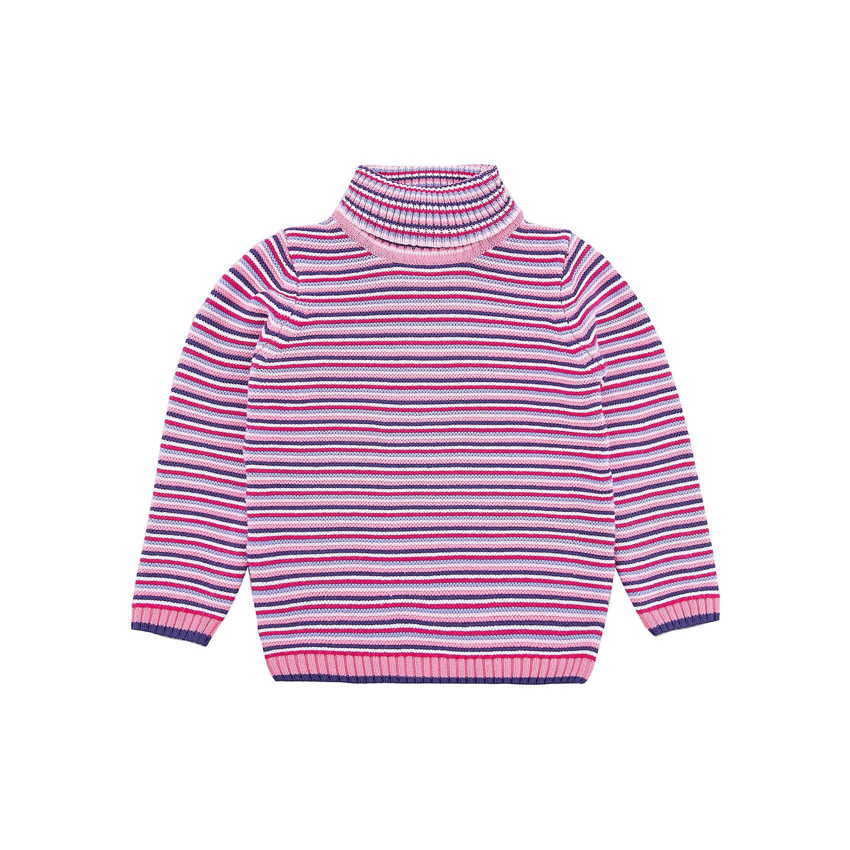 Свитер PlayToday для девочкиСвитера и кардиганы<br>Свитер PlayToday для девочки<br>Удобный свитер - отличное решение для повседневного гардероба ребенка. Модель выполнена по технологии yarn dyed -  в процессе производства используются разного цвета нити. Изделие, при рекомендуемом уходе, не линяет и надолго остается в первоначальном виде. Горловина, манжеты и низ изделия на мягких трикотажных резинках. Свободный крой не сковывает движений ребенка.<br>Состав:<br>60% хлопок, 40% акрил<br><br>Ширина мм: 190<br>Глубина мм: 74<br>Высота мм: 229<br>Вес г: 236<br>Цвет: белый<br>Возраст от месяцев: 84<br>Возраст до месяцев: 96<br>Пол: Женский<br>Возраст: Детский<br>Размер: 128,98,104,110,116,122<br>SKU: 7115351
